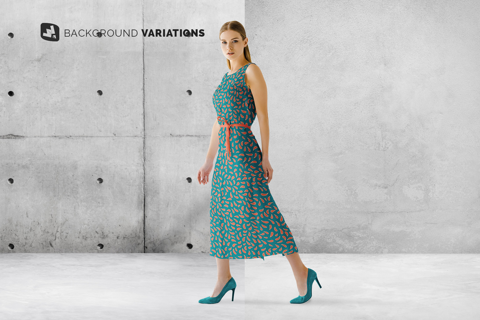 background options of the women's summer dress mockup vol.3
