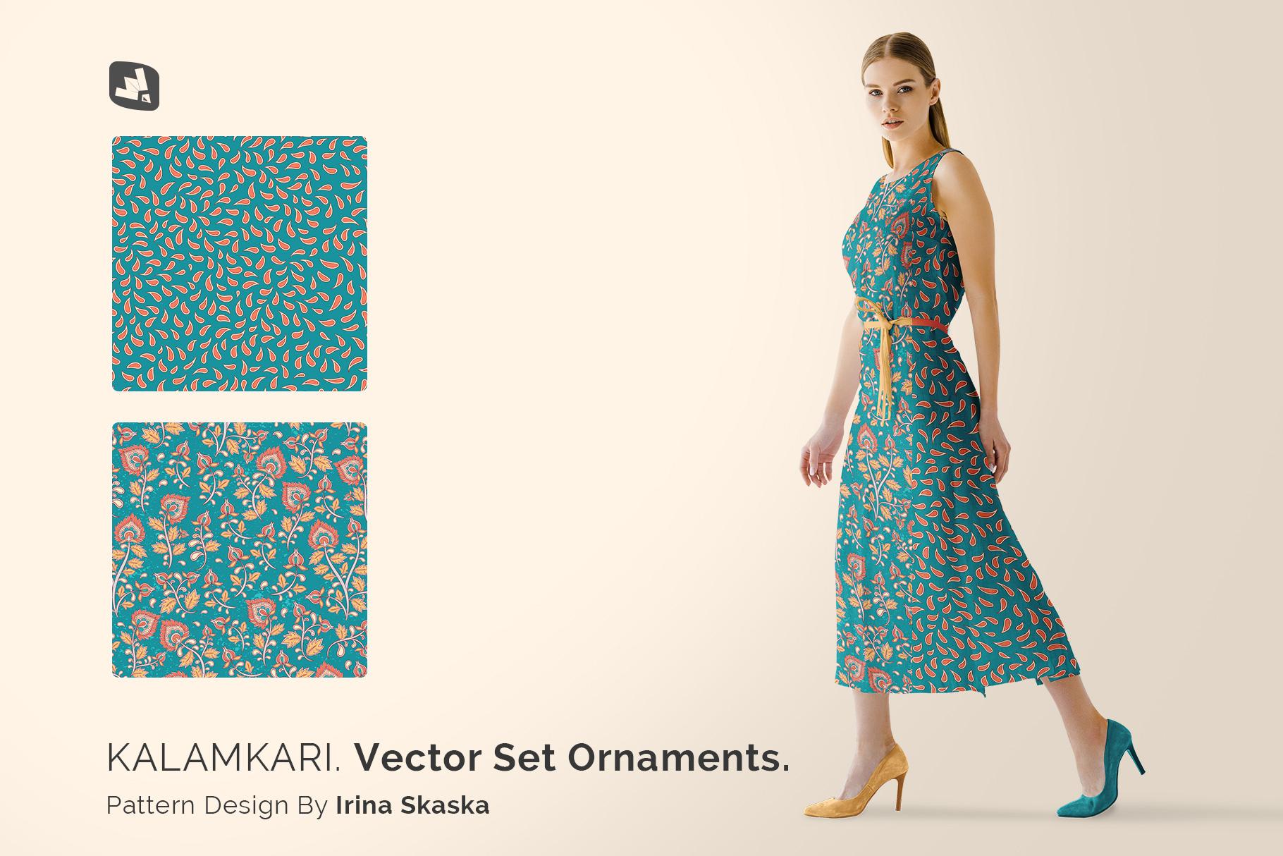 designer's credit of the women's summer dress mockup vol.3