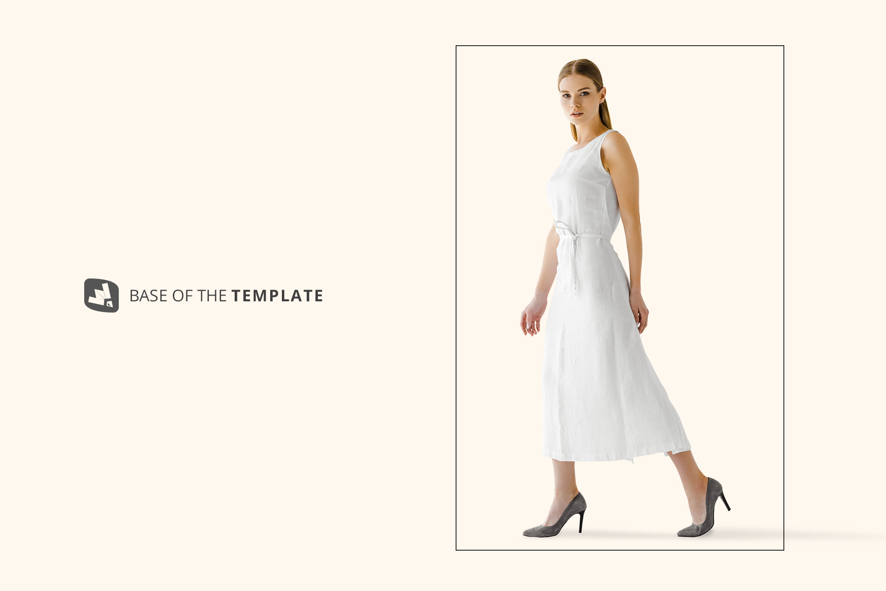 base image of the women's summer dress mockup vol.3