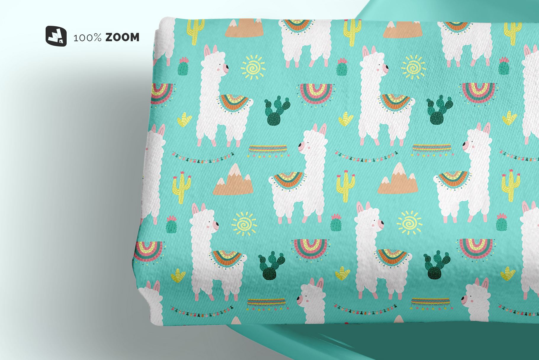 zoomed in image of the top view dinner cloth with dish mockup