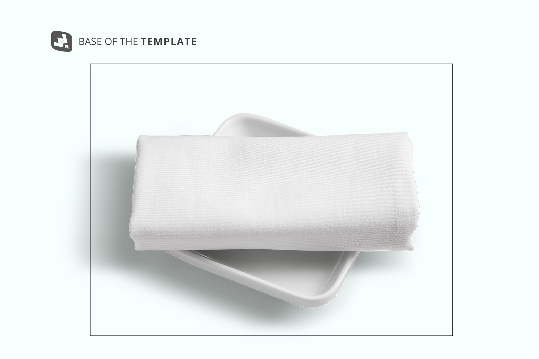 base image of the top view dinner cloth with dish mockup
