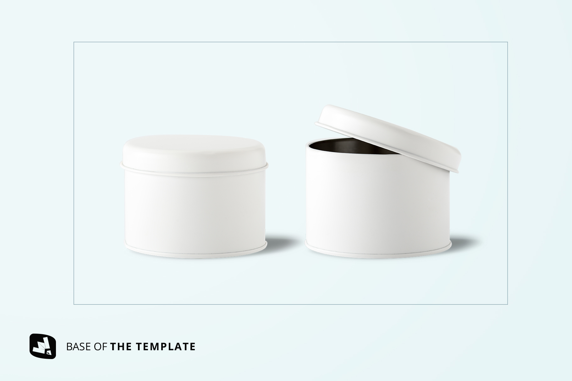 base image of the front view cylindrical container mockup