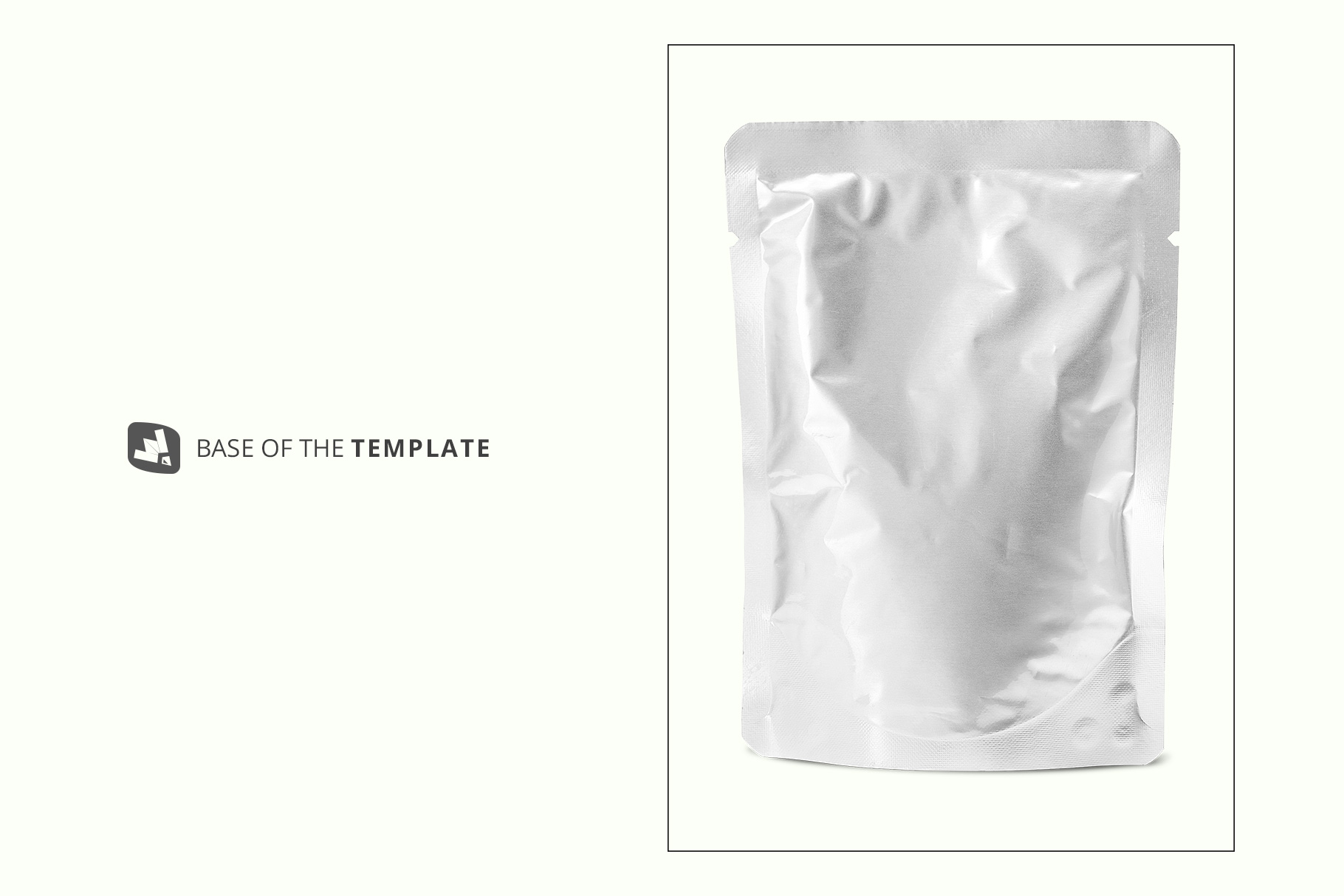 base image of the flexible foil pouch packaging mockup