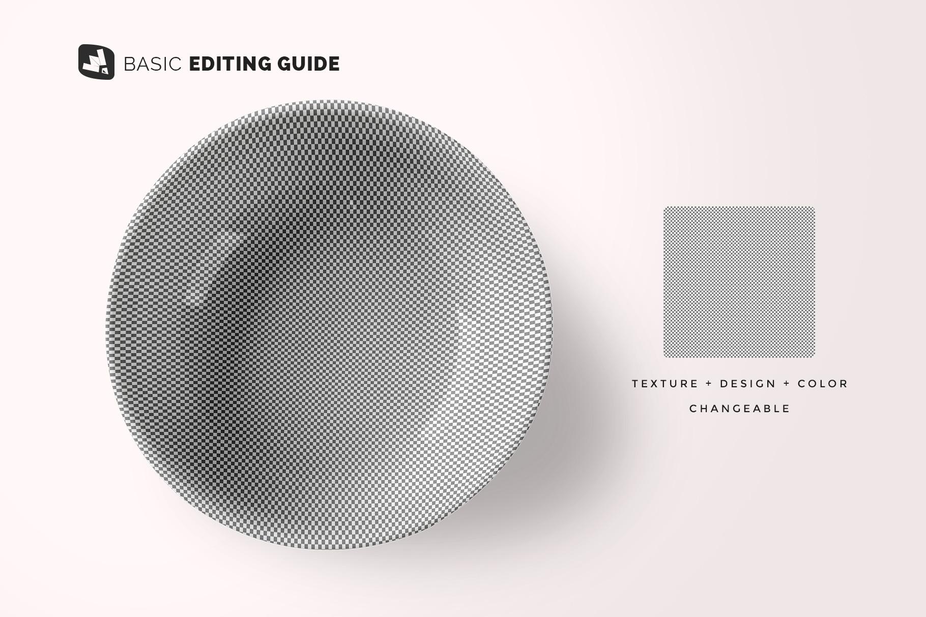 editability of the top view deep ceramic bowl mockup