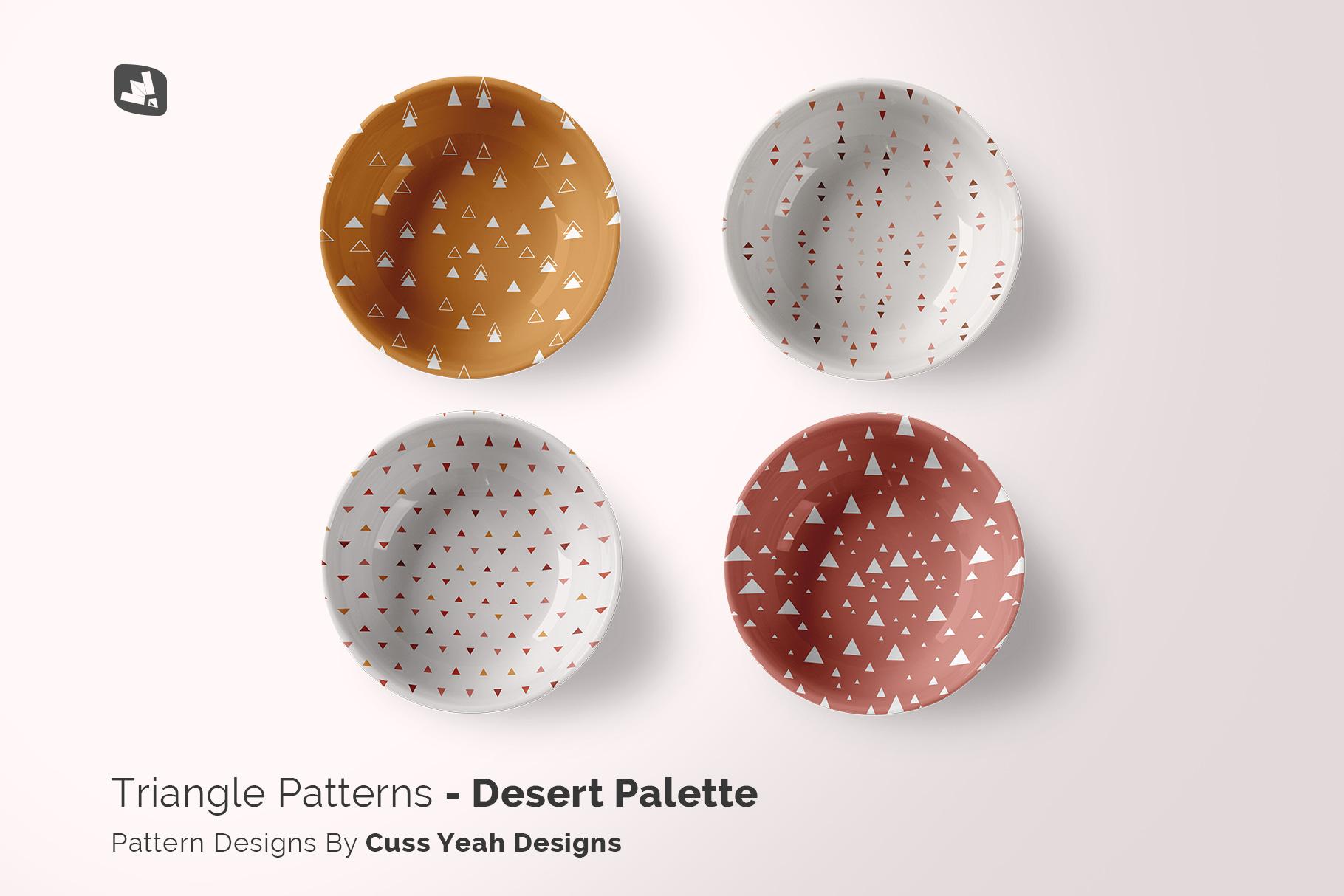 designer's credit of the top view deep ceramic bowl mockup