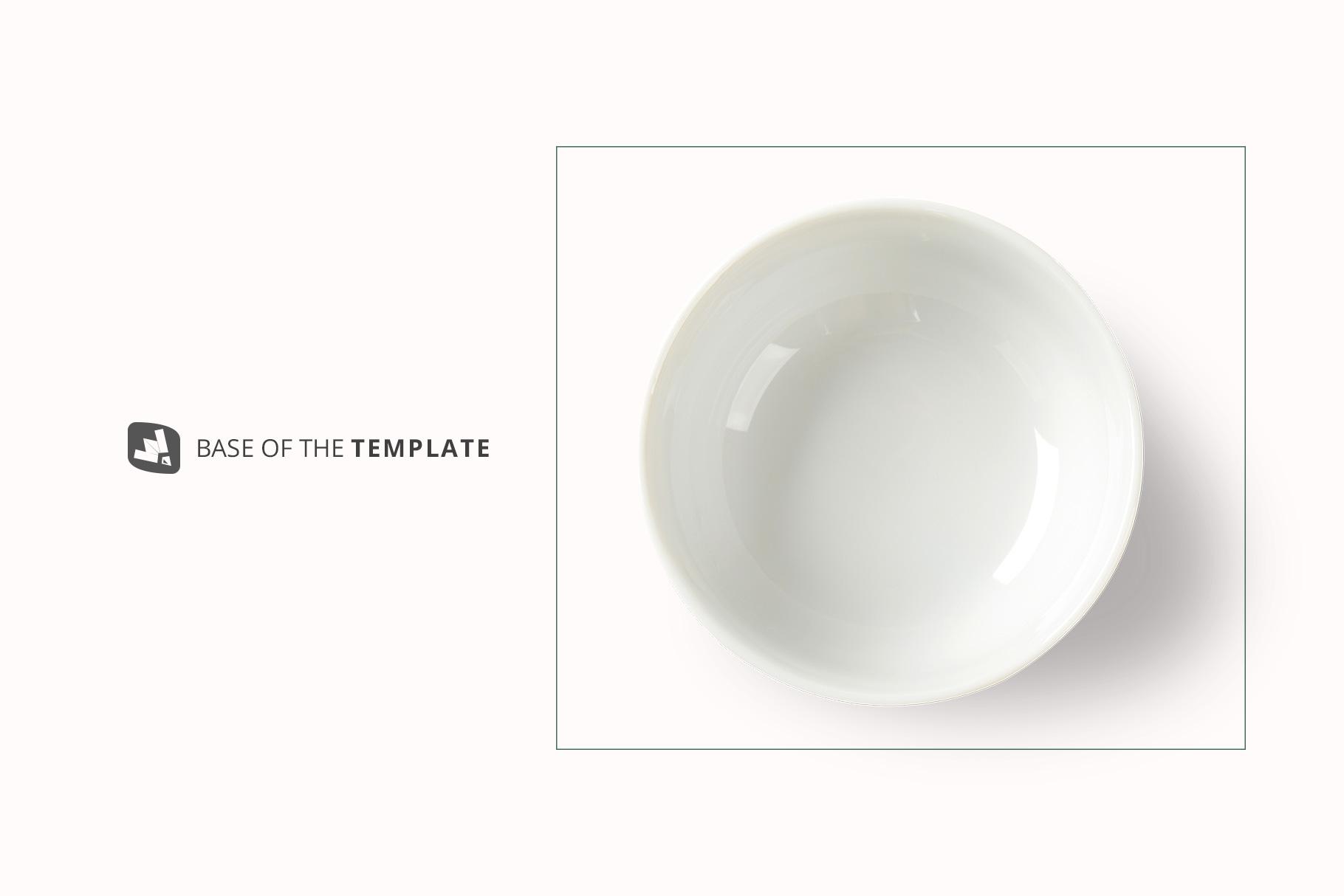 base image of the top view deep ceramic bowl mockup