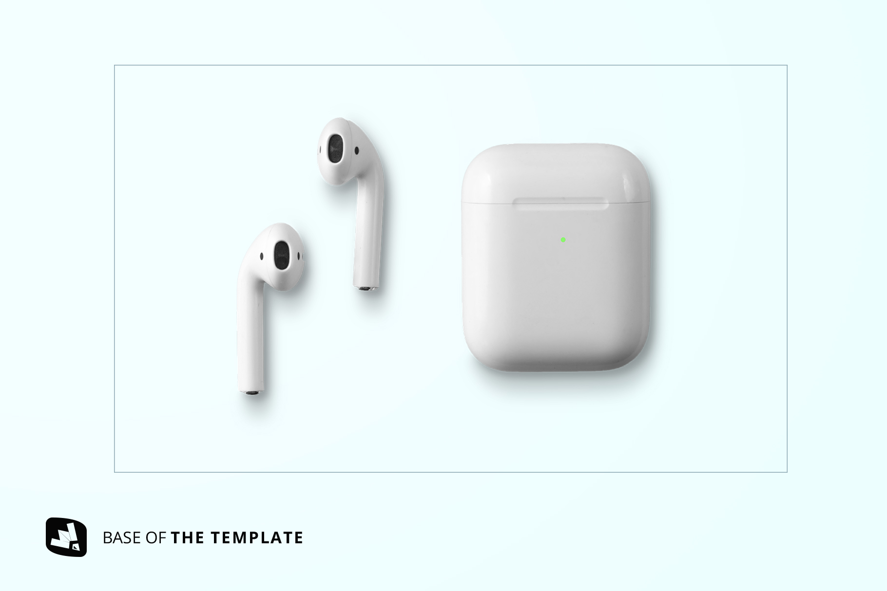 base image of the top view airpod case mockup