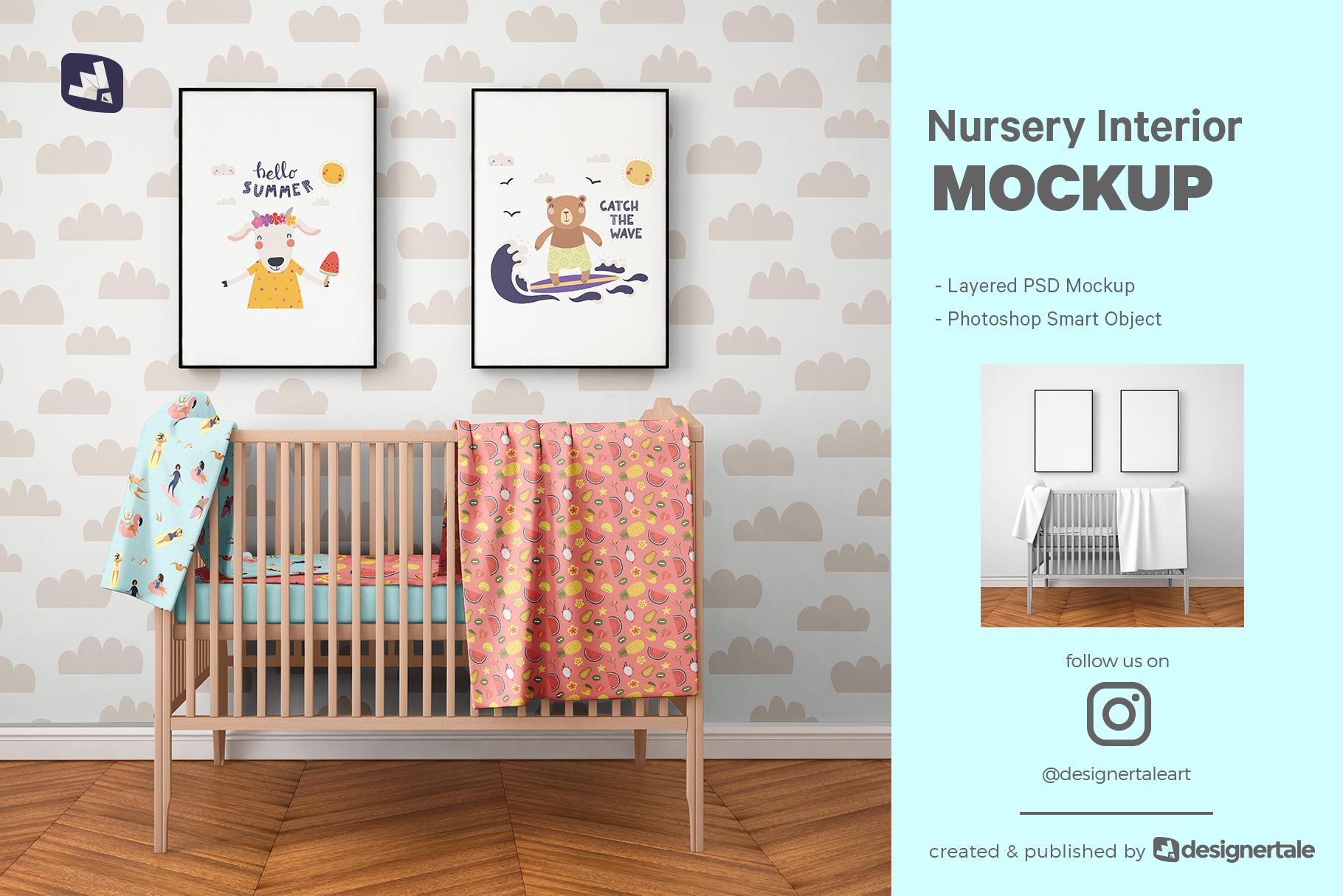 nursery interior mockup