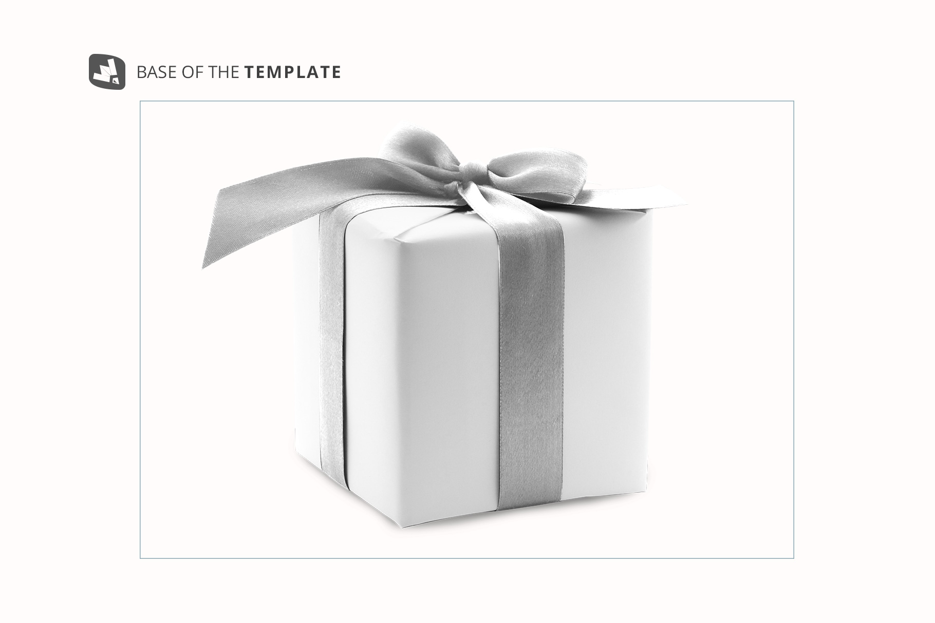 base image of the wrapping paper mockup with box