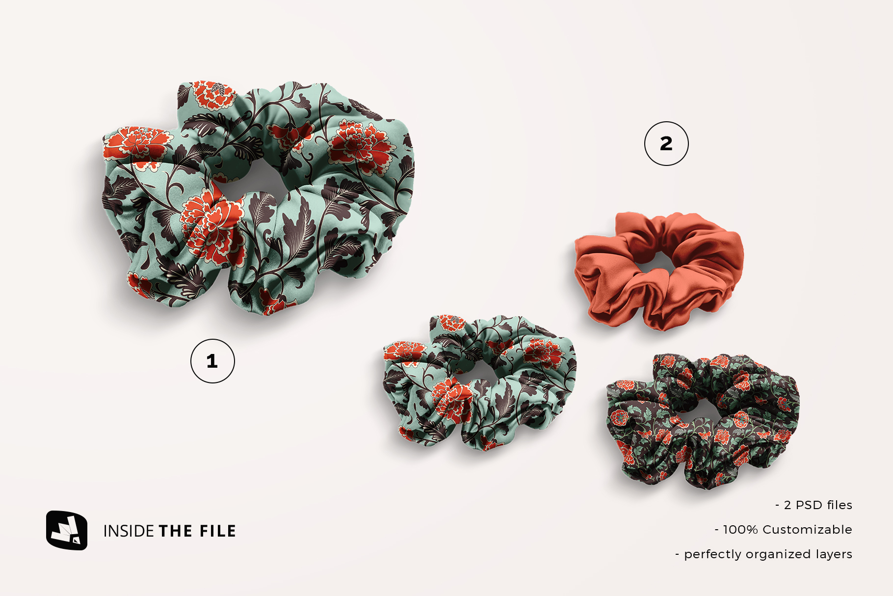 files included in the silk scrunchy mockup