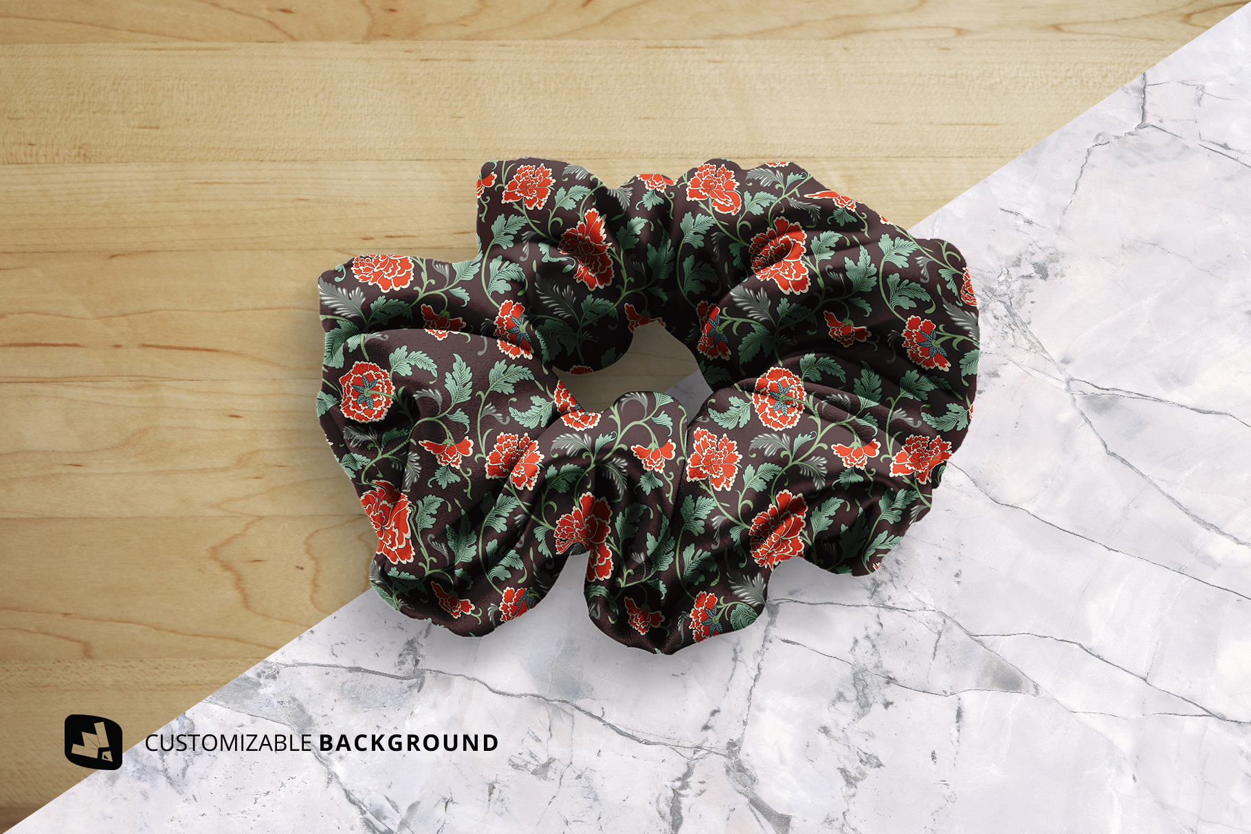 background options of the silk scrunchy mockup