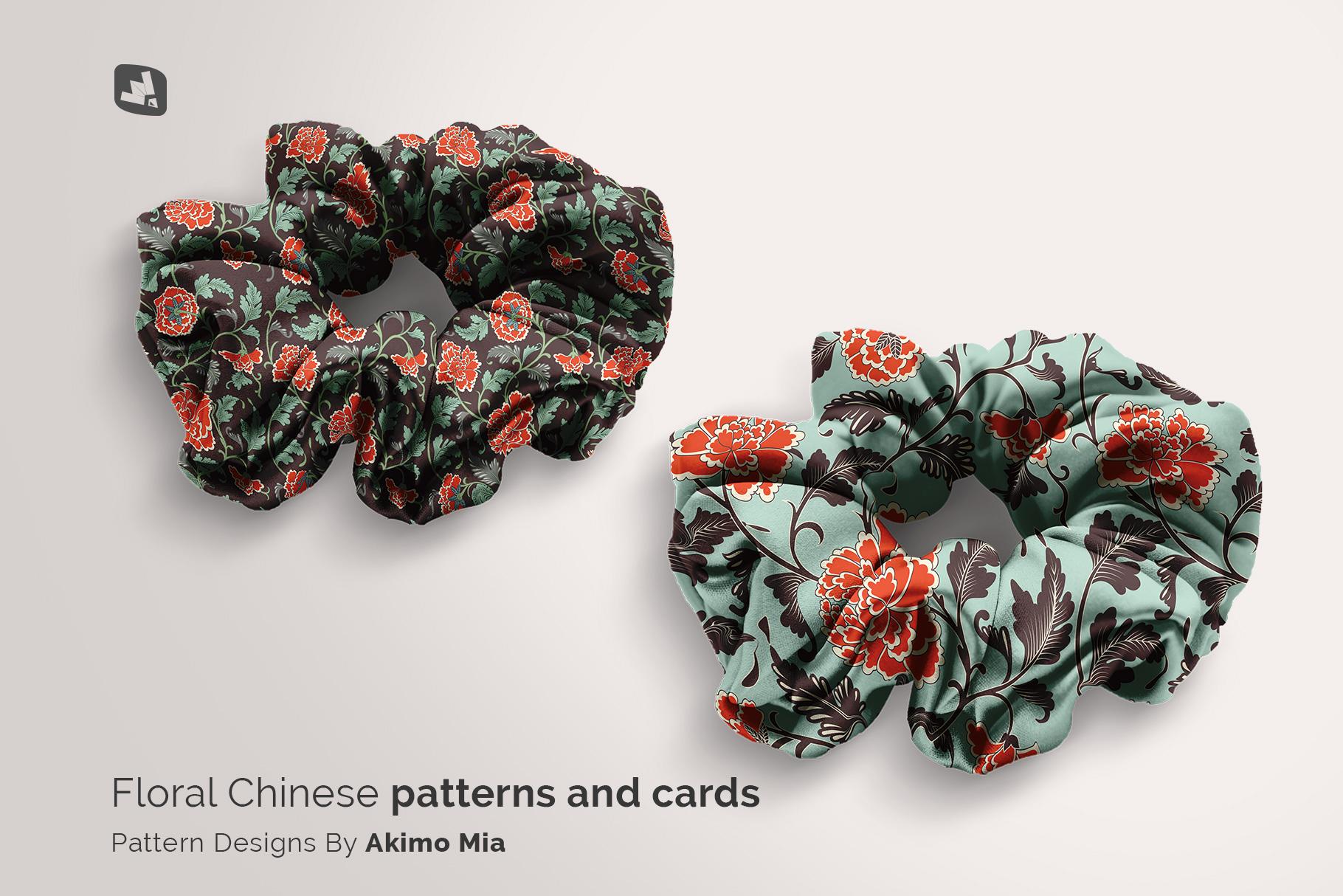 designer's credit of the silk scrunchy mockup