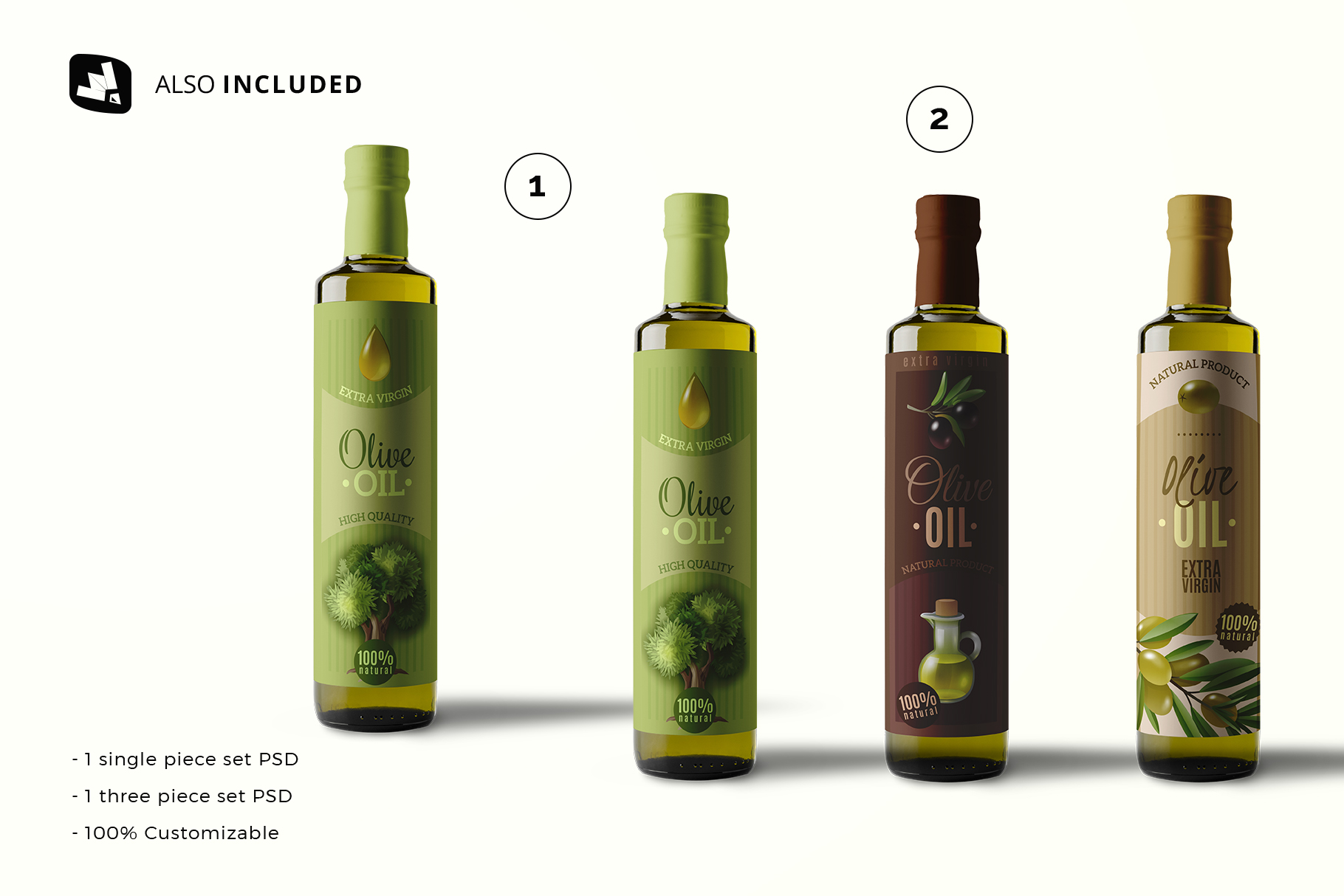 files included in the cooking oil bottle packaging mockup