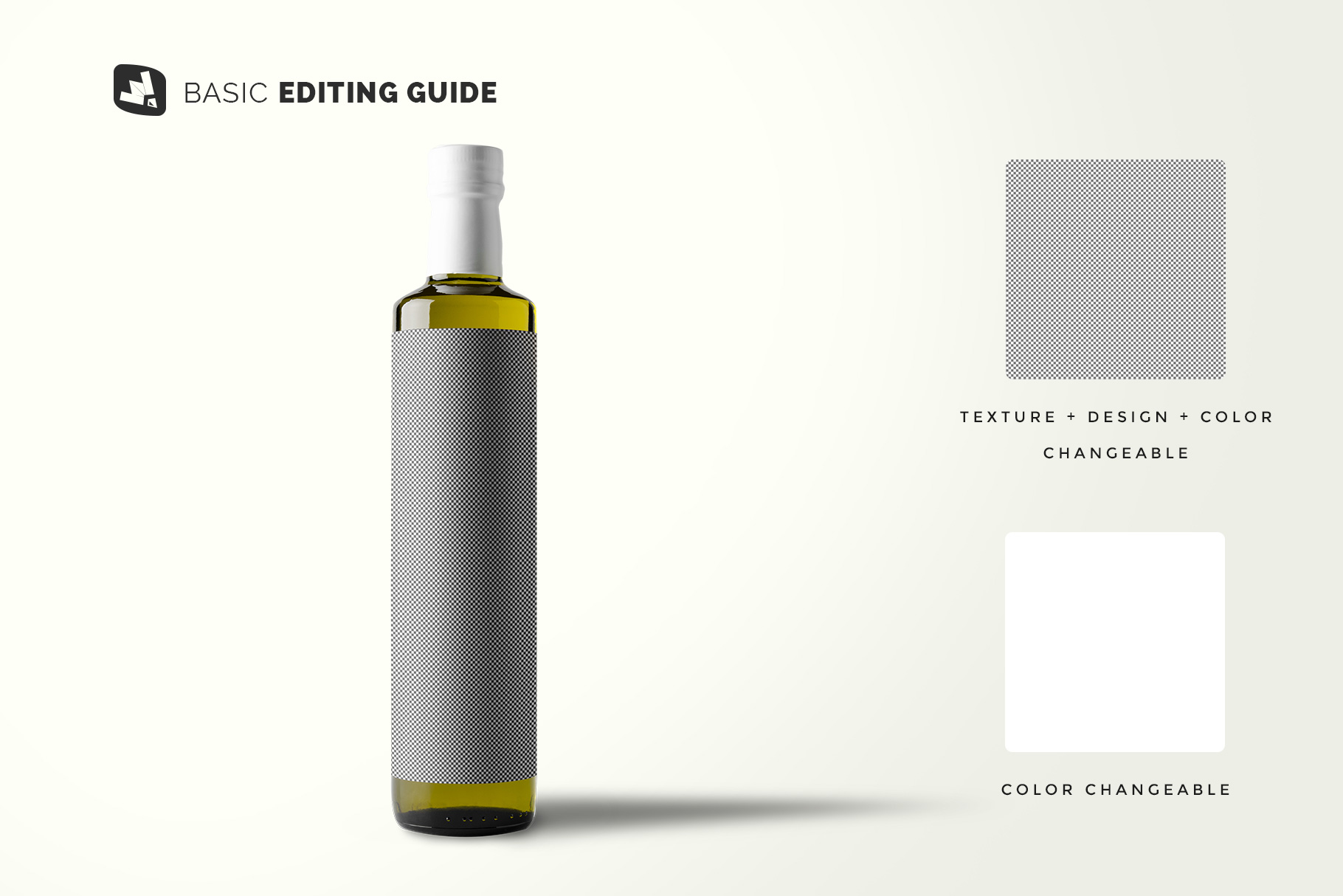 editability of the cooking oil bottle packaging mockup