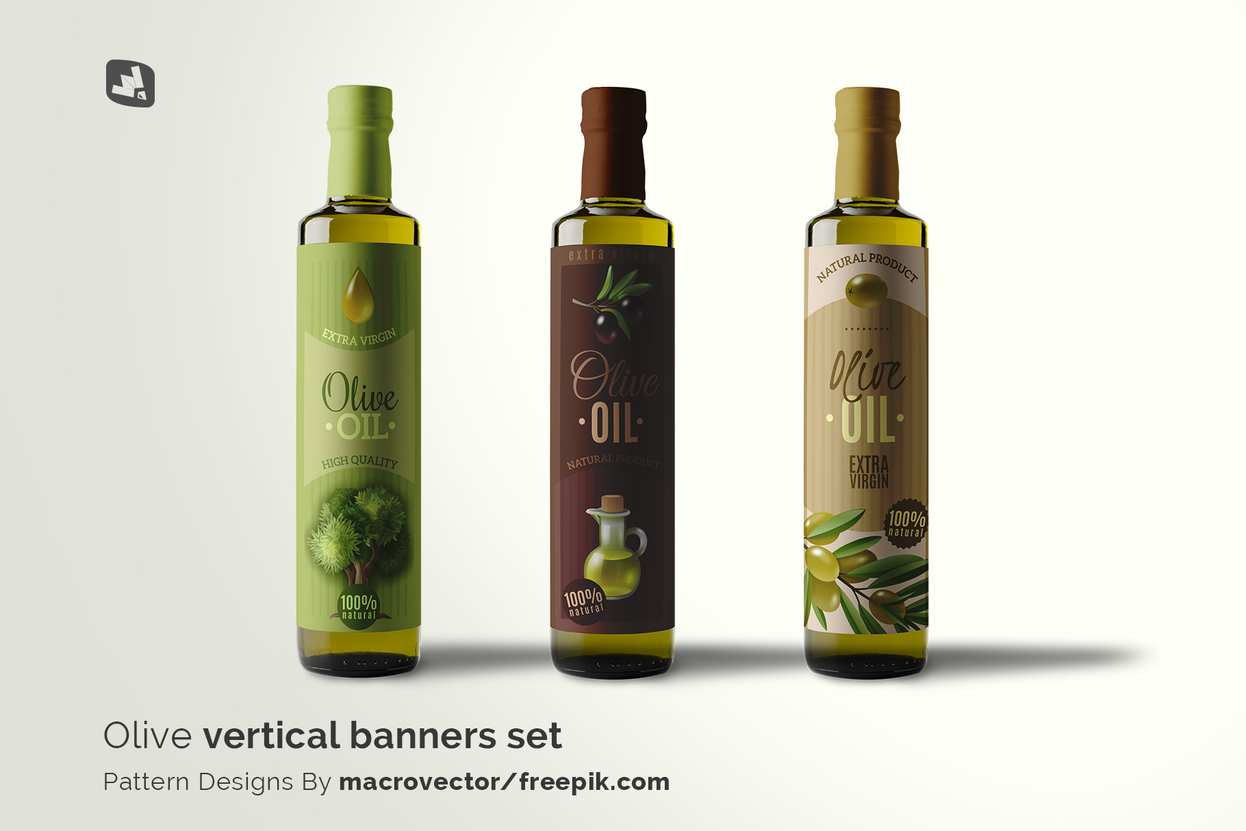 designer's credit of the cooking oil bottle packaging mockup