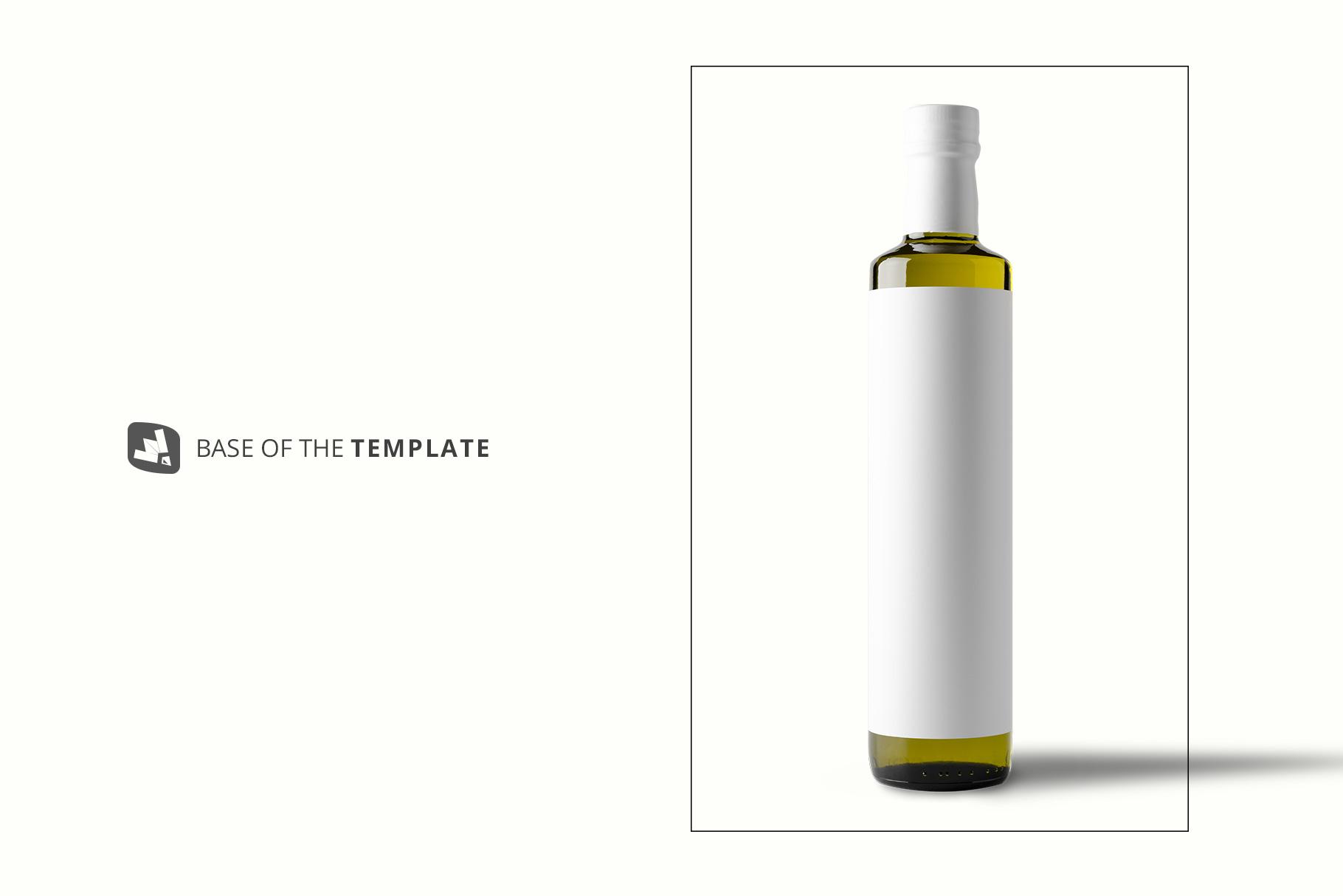 base image of the cooking oil bottle packaging mockup