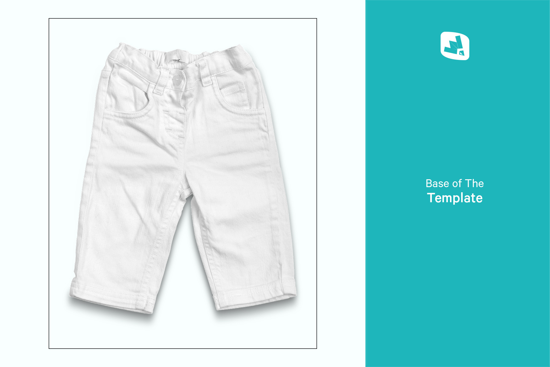 base image of the top view kid's jeans mockup
