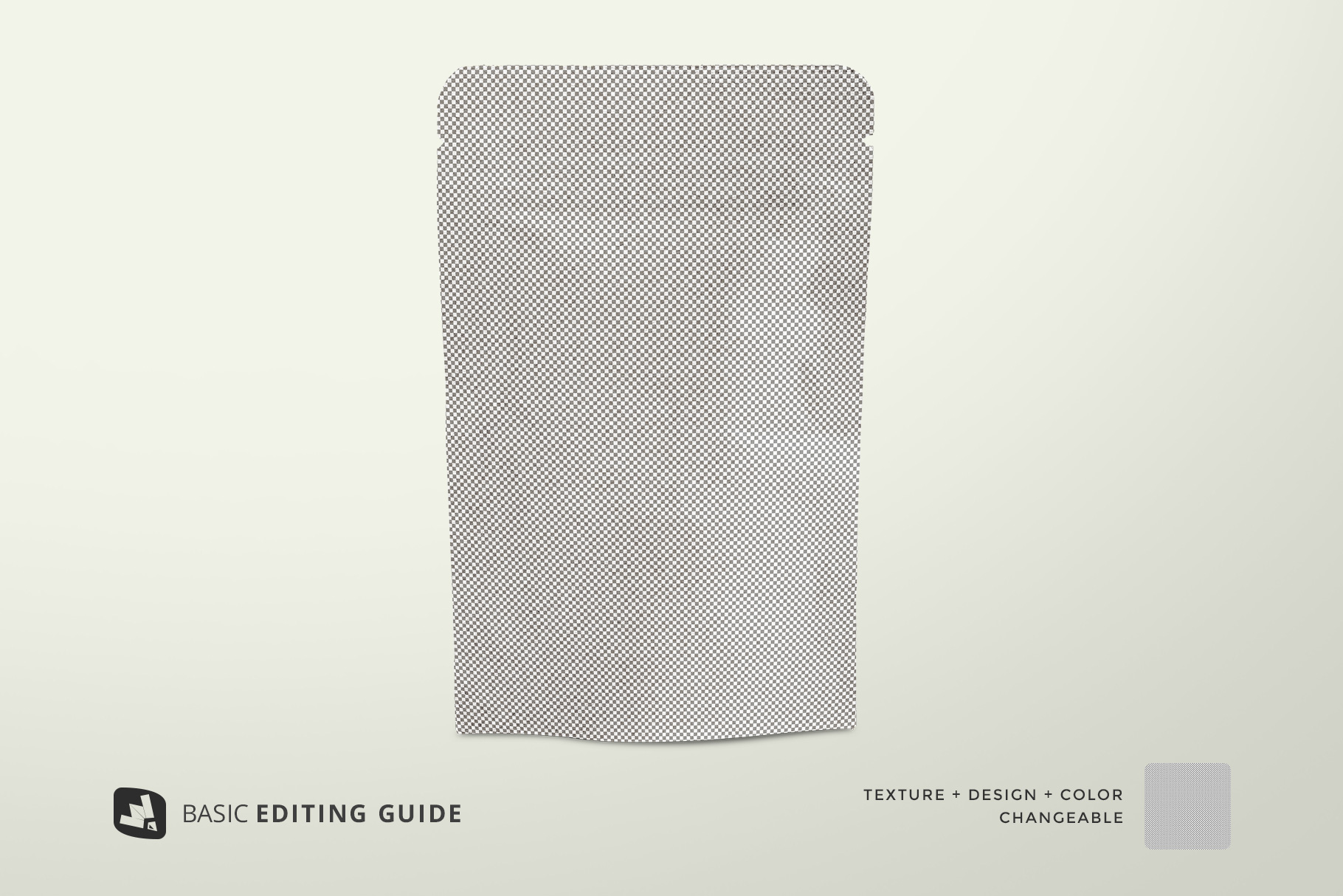 base image of the craft paper pouch packaging mockup