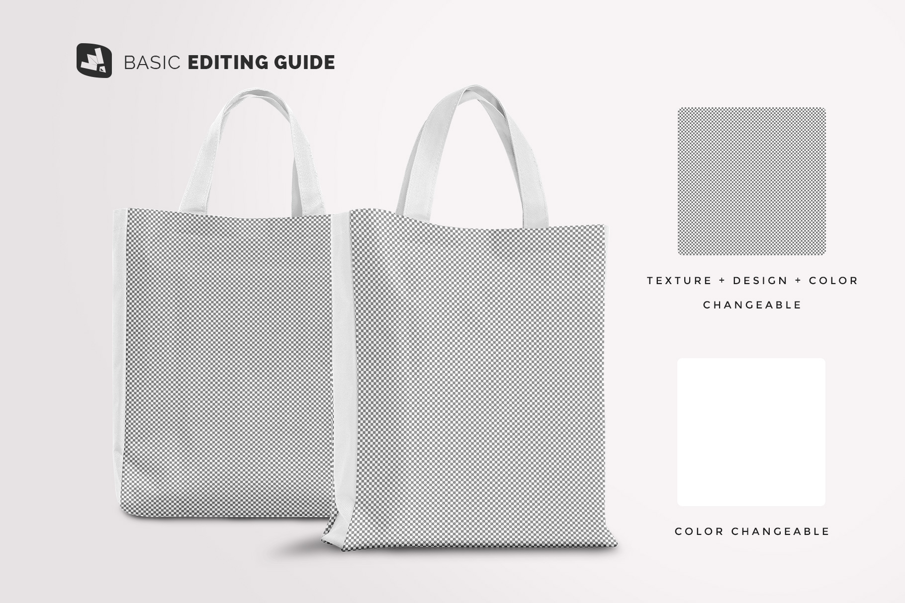 editability of the front view canvas bag mockup