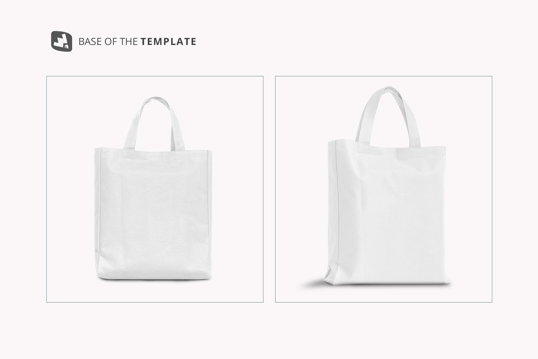 base image of the front view canvas bag mockup