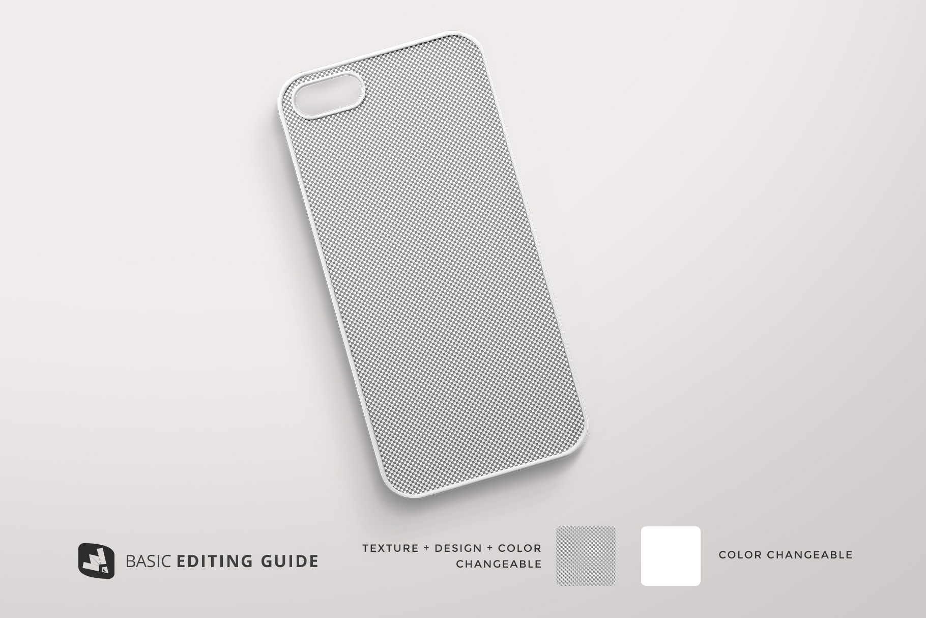 editability of thetop view phone case mockup