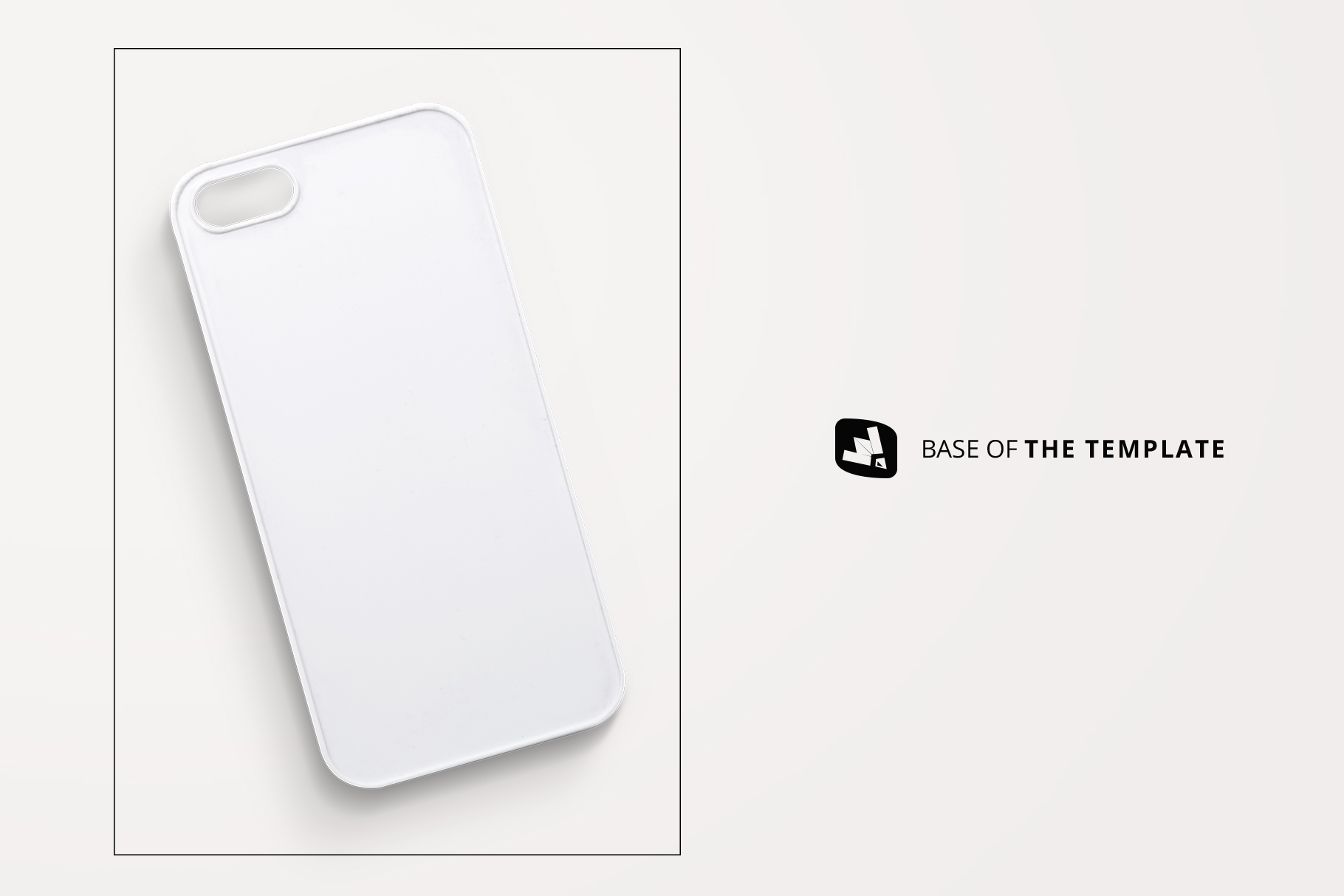 base image of the top view phone case mockup