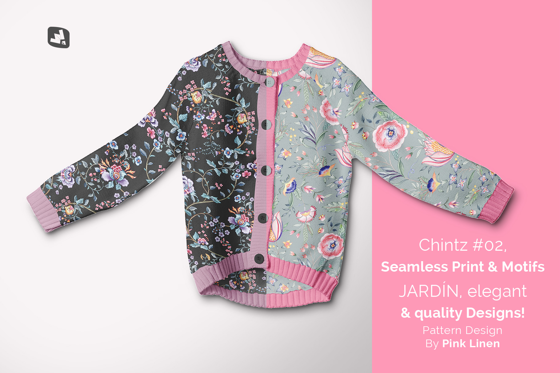 designer's credit of the top view baby sweater mockup