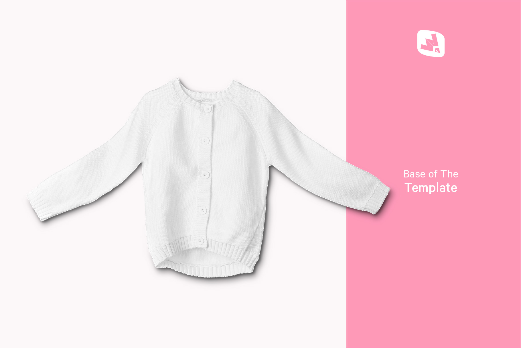 base image of the top view baby sweater mockup