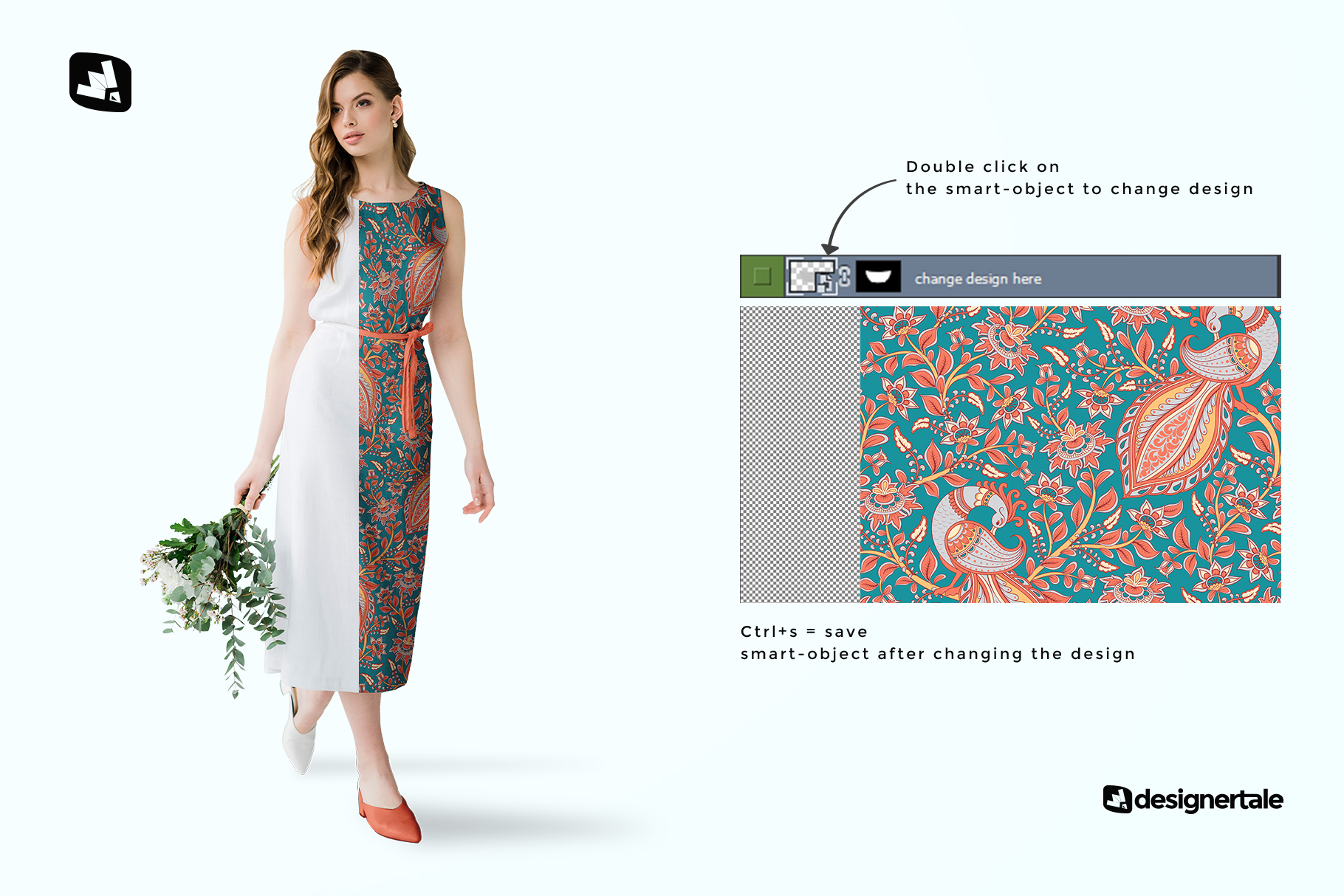 how to change design of the female cotton summer dress mockup
