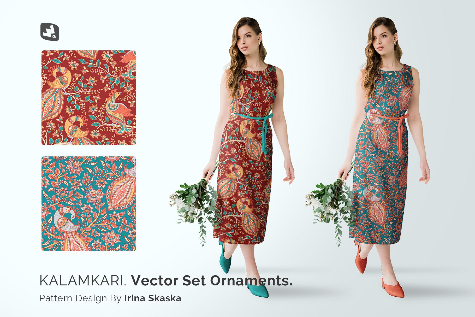 designer's credit of the female cotton summer dress mockup
