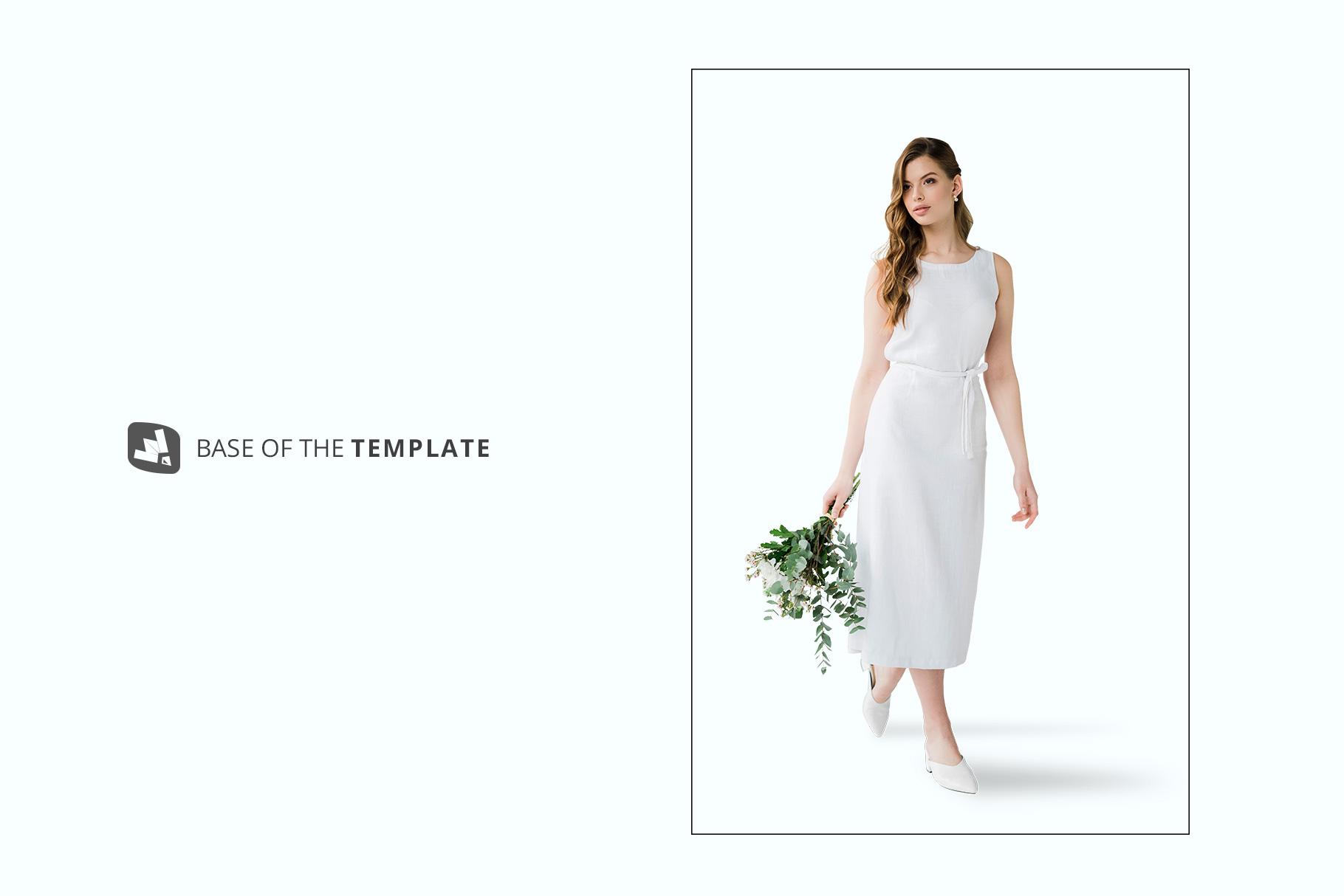 base image of the female cotton summer dress mockup