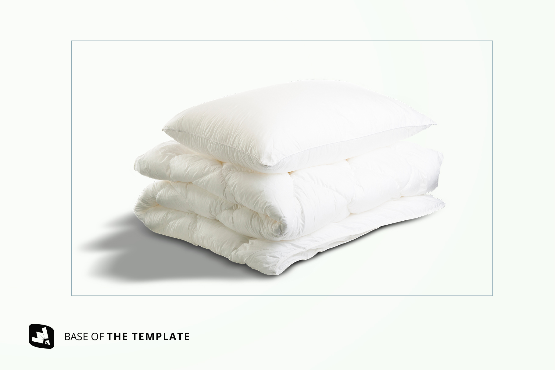 base image of the duvet & pillow case mockup
