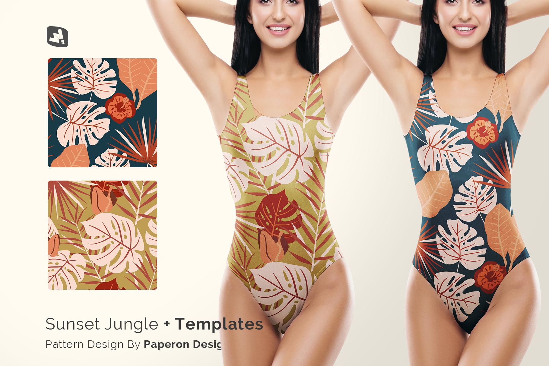designer's credit of the women's swimsuit mockup