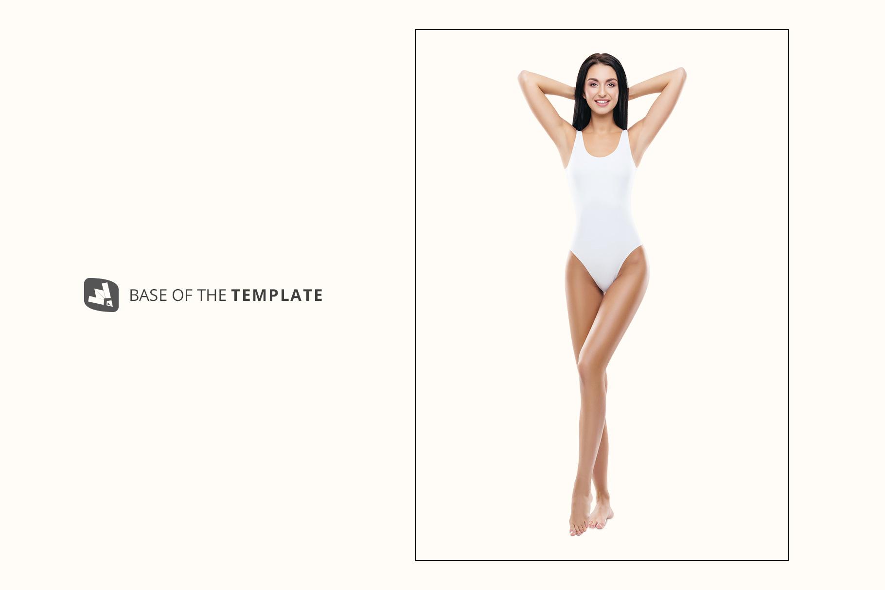 base image of the women's swimsuit mockup