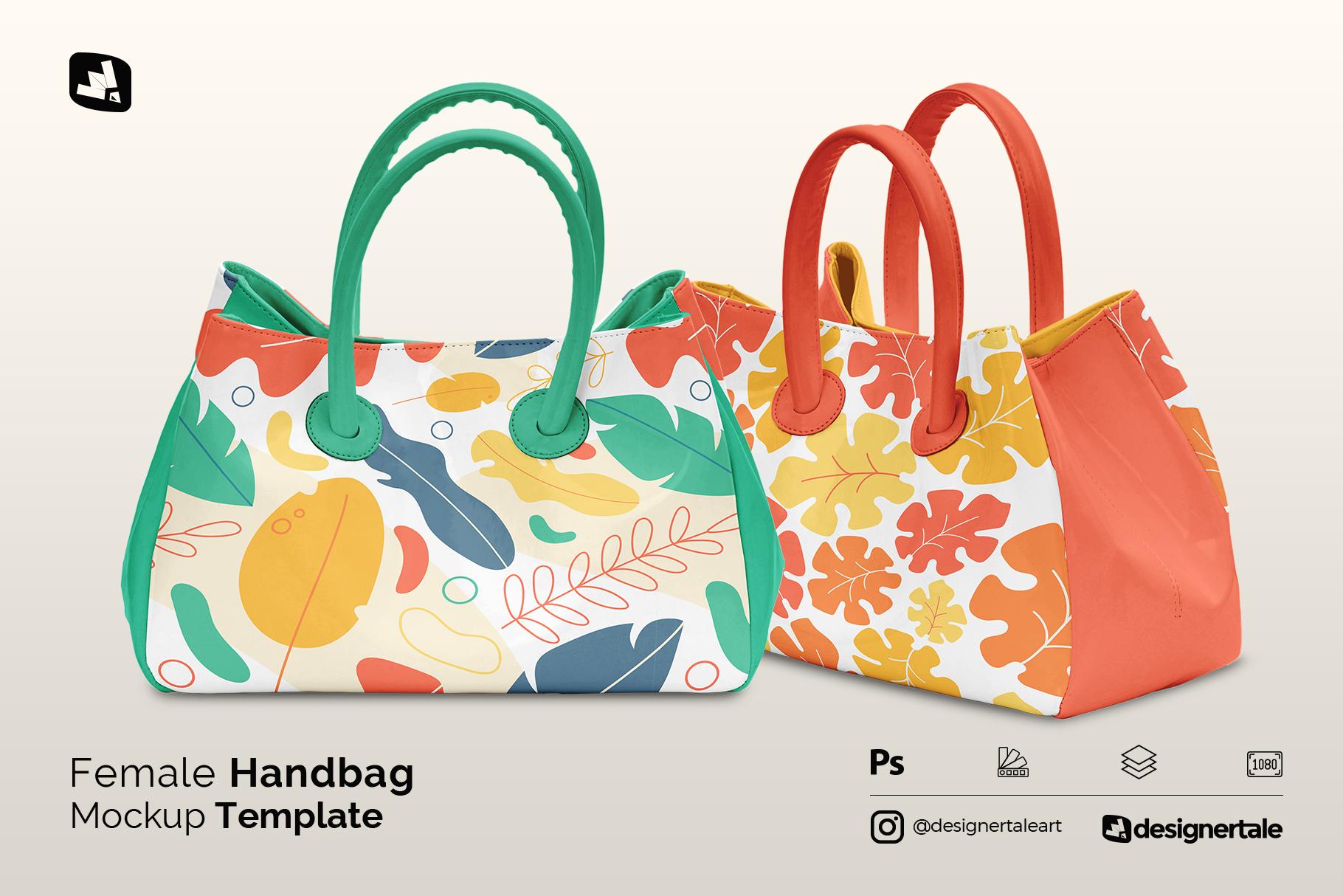 Female Handbag Mockup