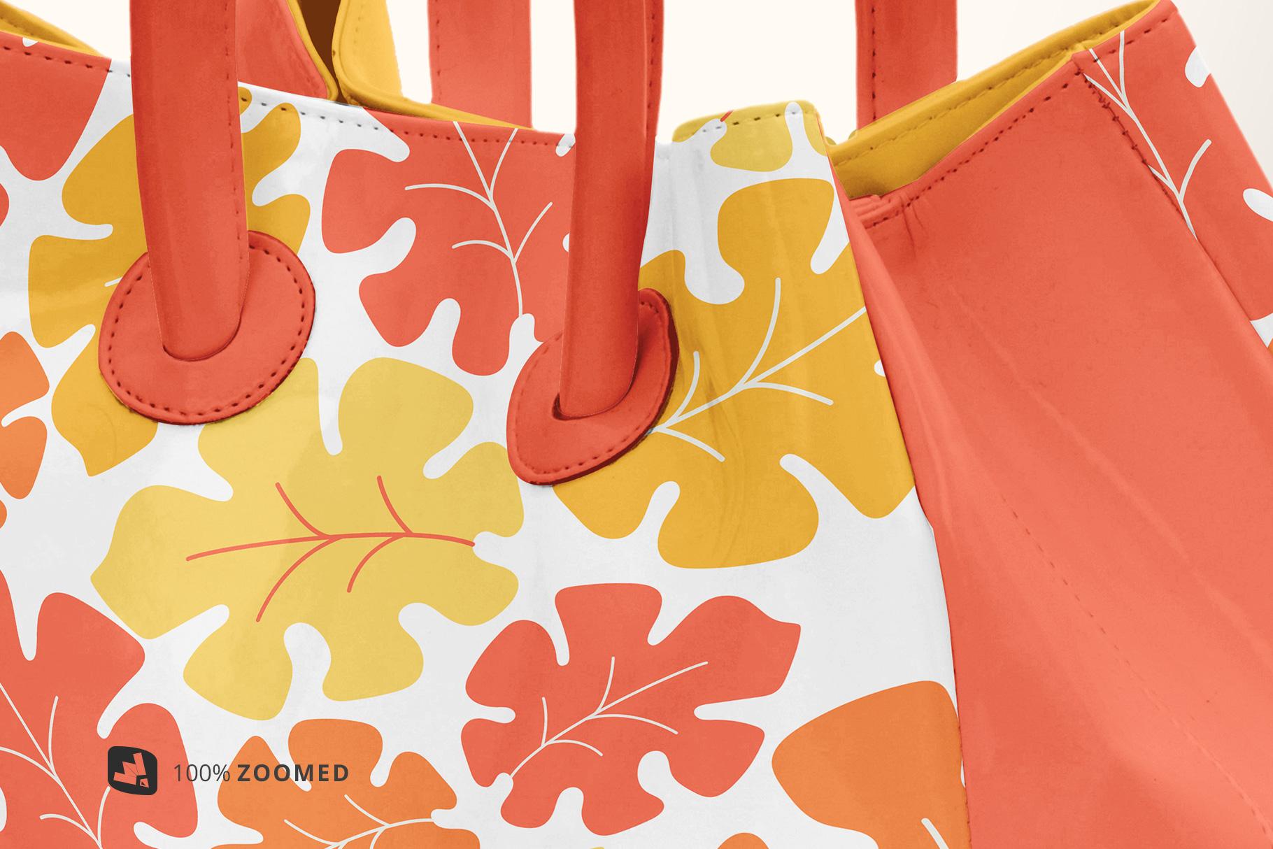 zoomed in image of the female handbag mockup