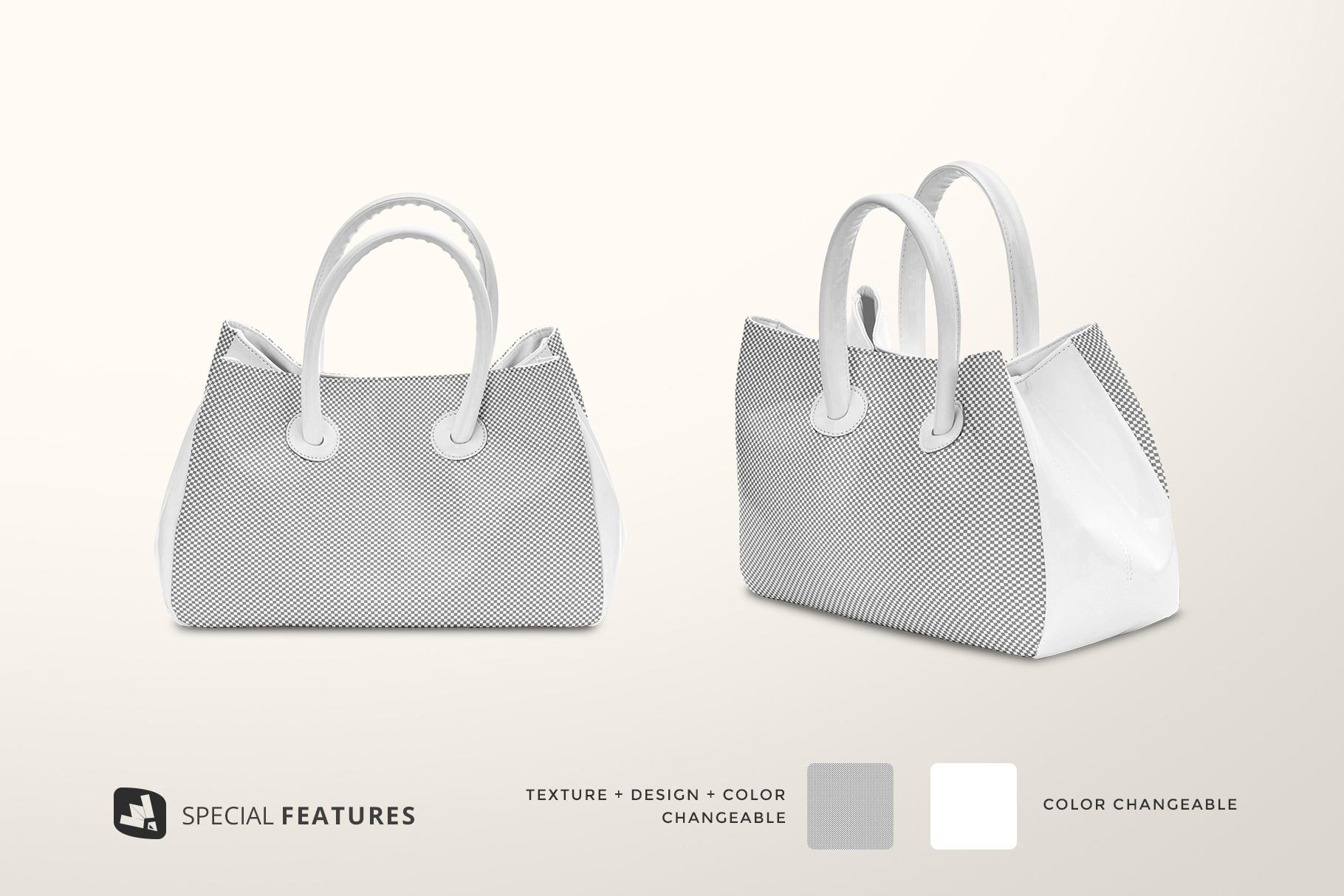 editability of the female handbag mockup