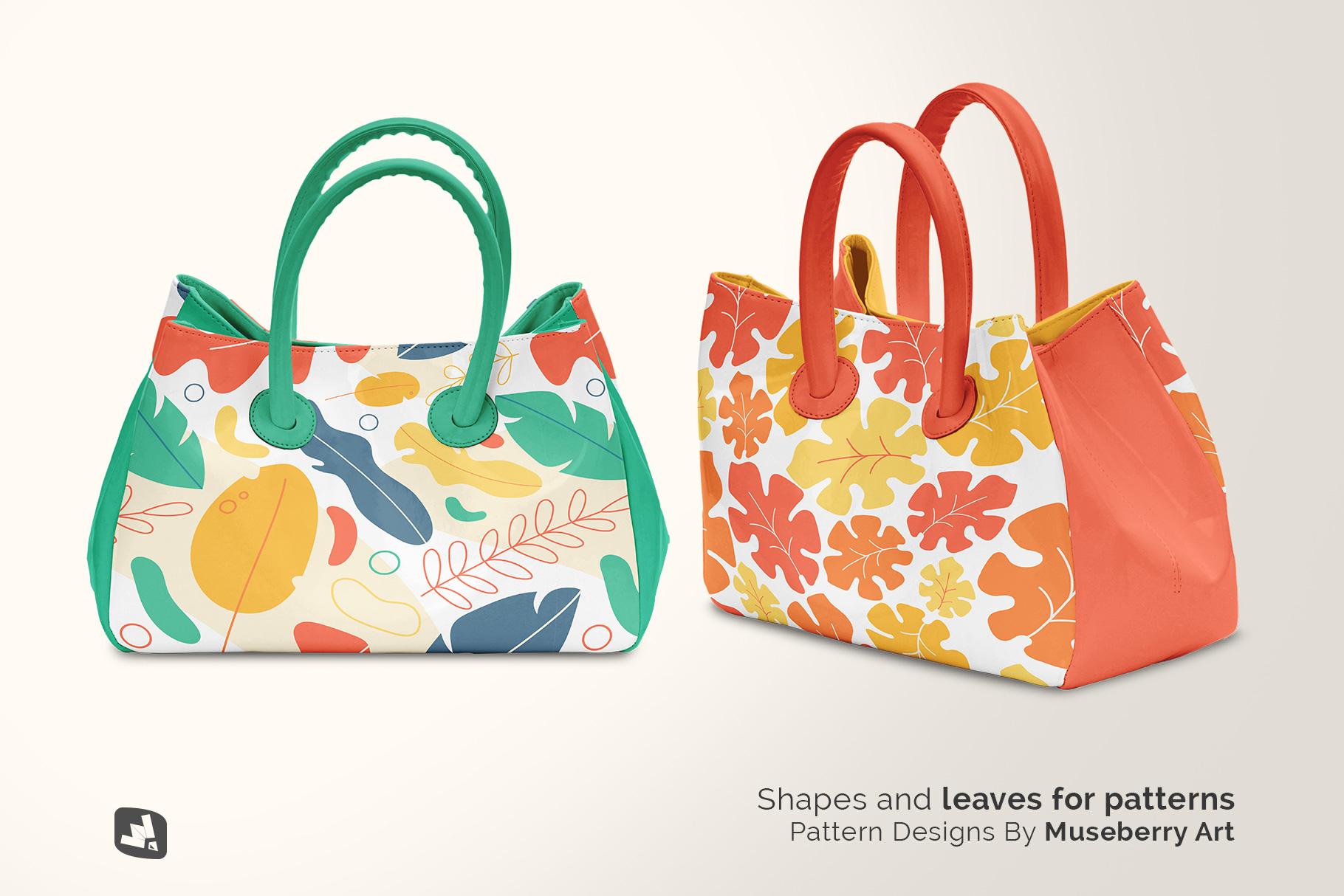 designer's credit of the female handbag mockup