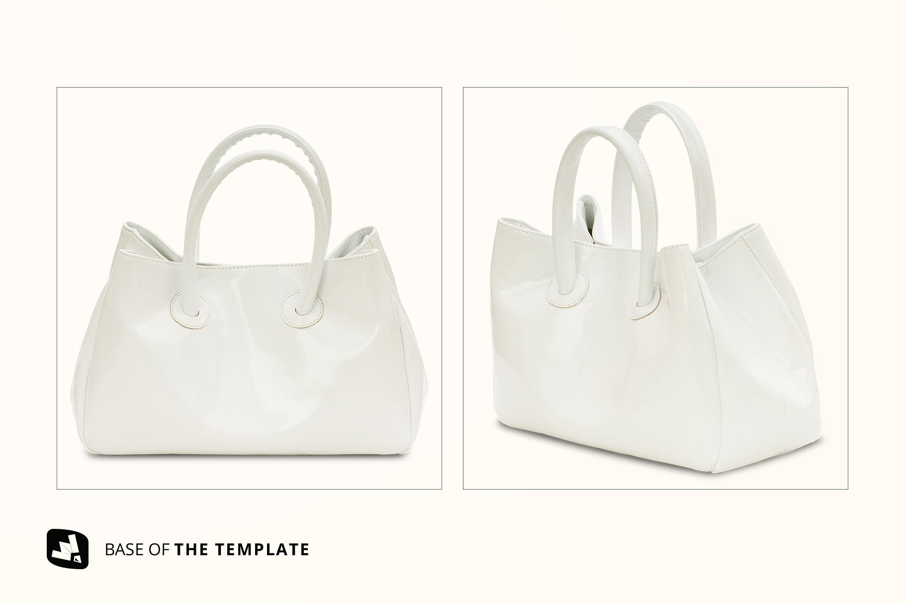 base image of the female handbag mockup