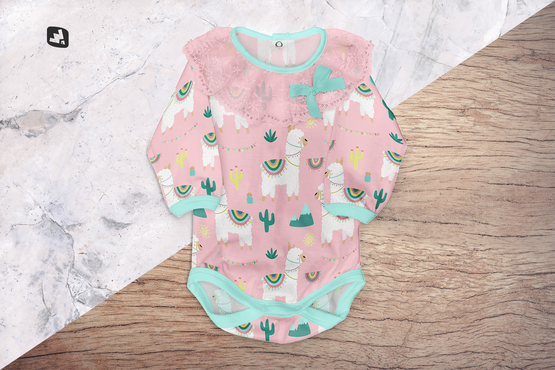 background options of the baby girl's onesie mockup