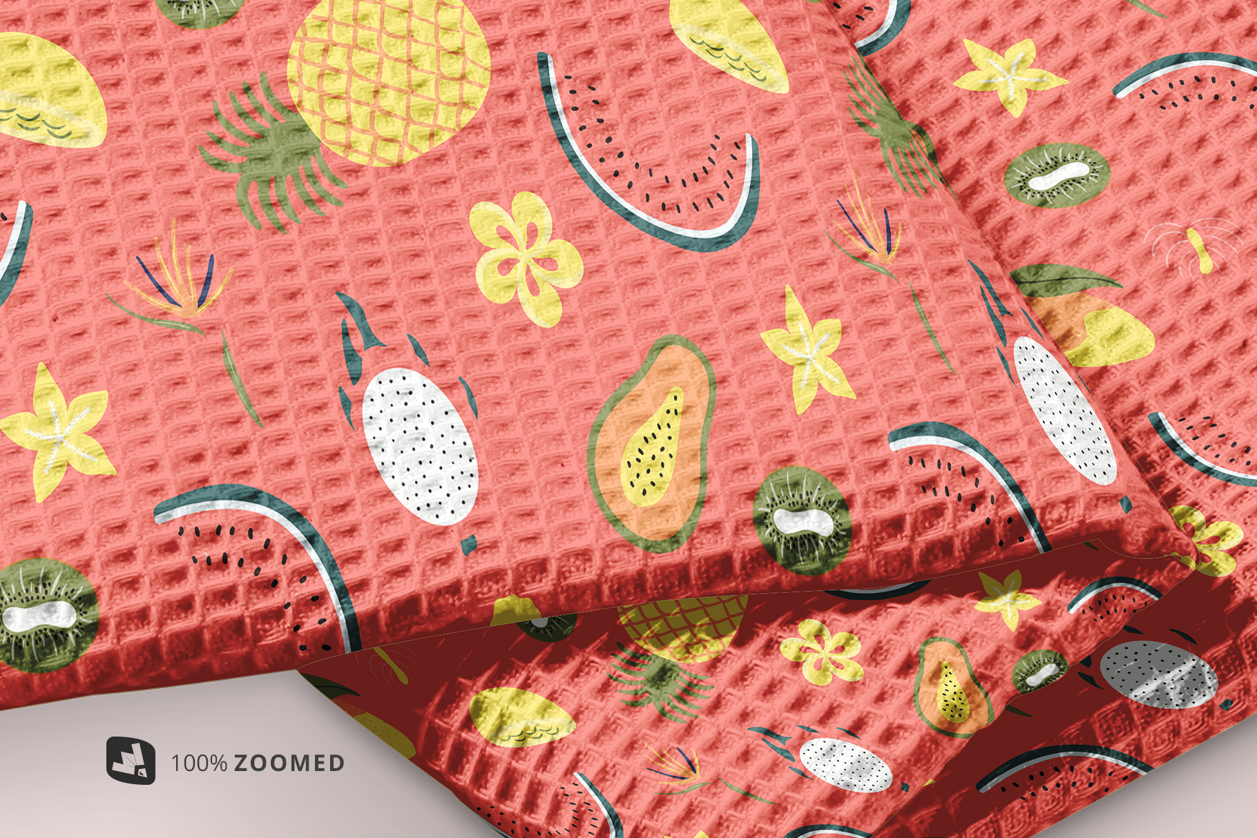 zoomed in image of the kitchen washcloth mockup