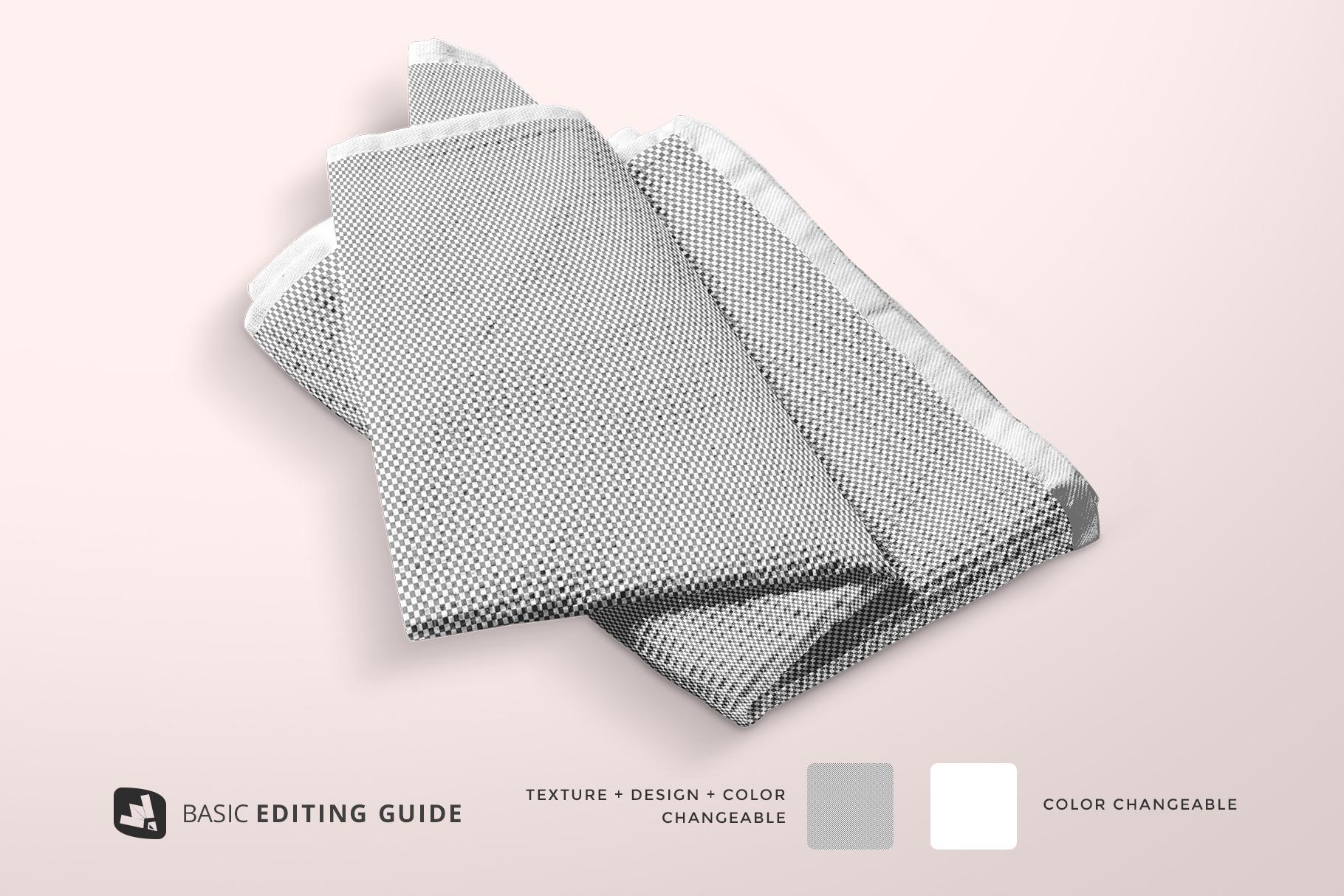 editability of the kitchen washcloth mockup