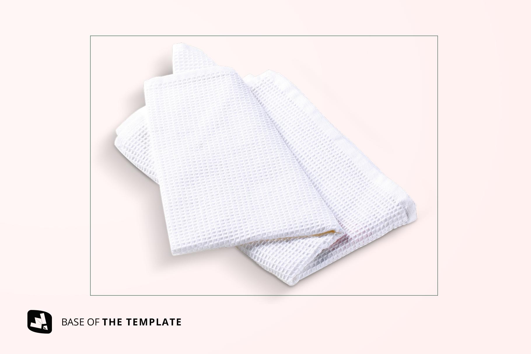 base image of the kitchen washcloth mockup