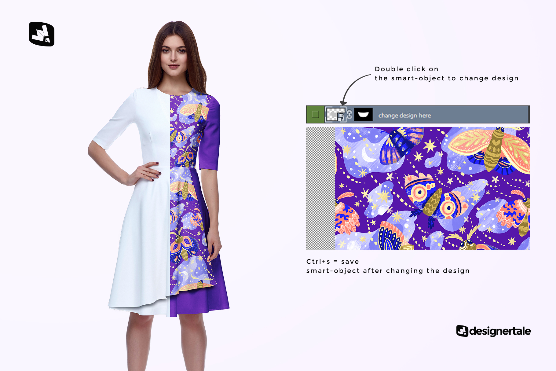 how to change design of the female formal dress mockup