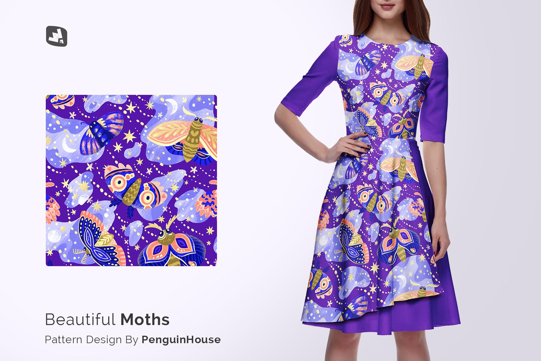 designer;s credit of the female formal dress mockup