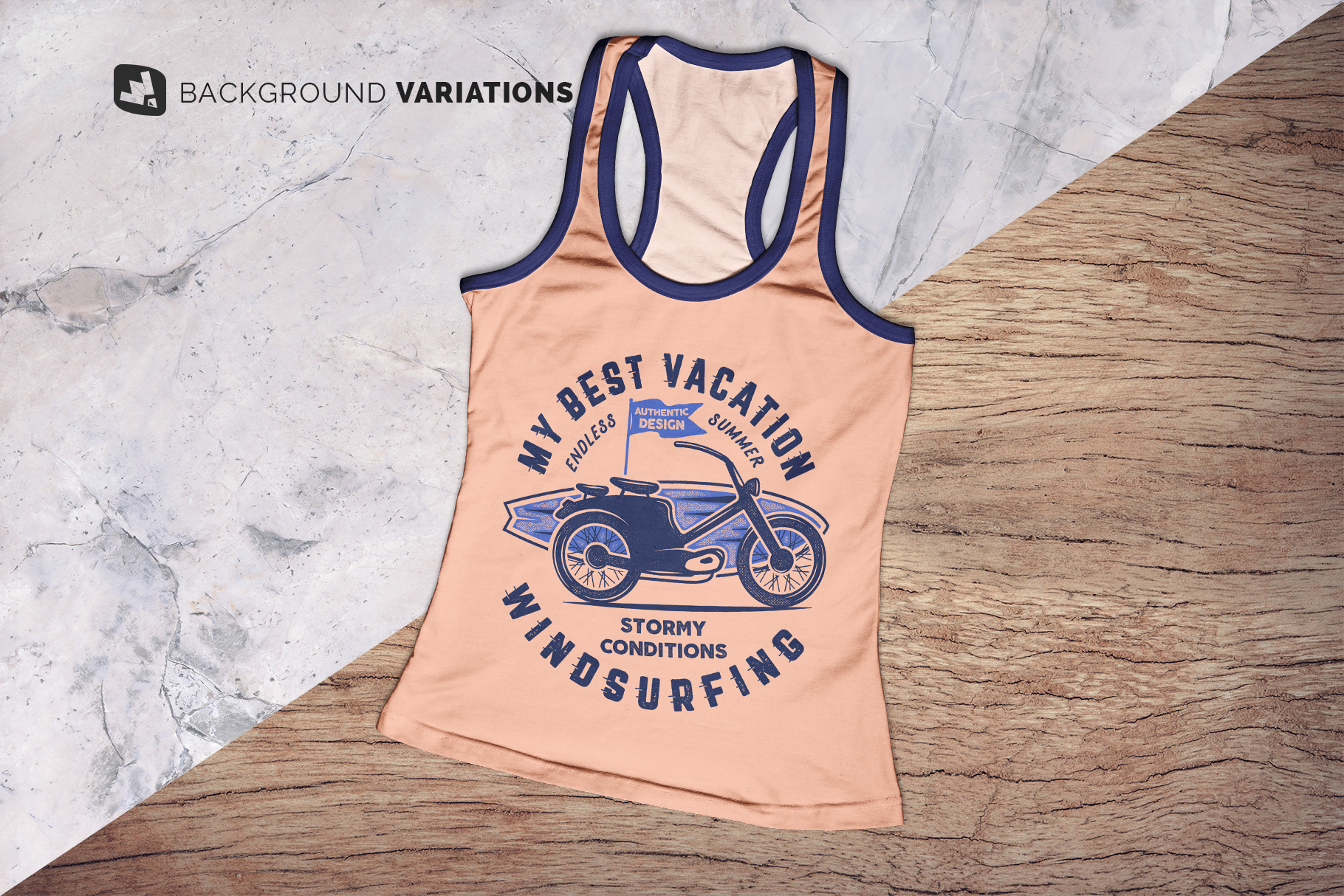 background options of the top view female tank top mockup