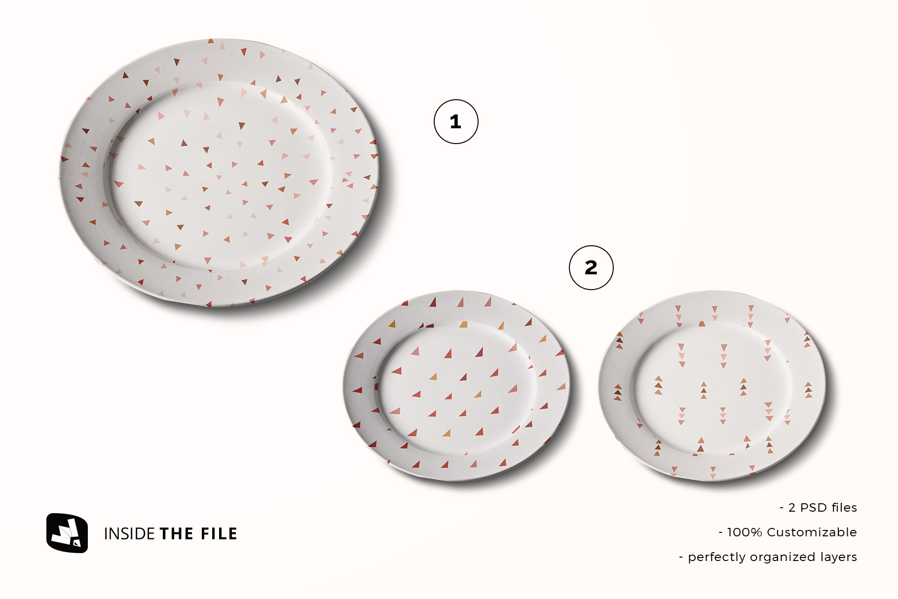 files included in the porcelain dinner plate mockup