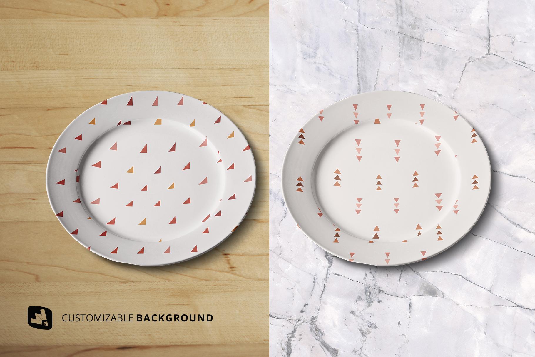 background options of the porcelain dinner plate mockup