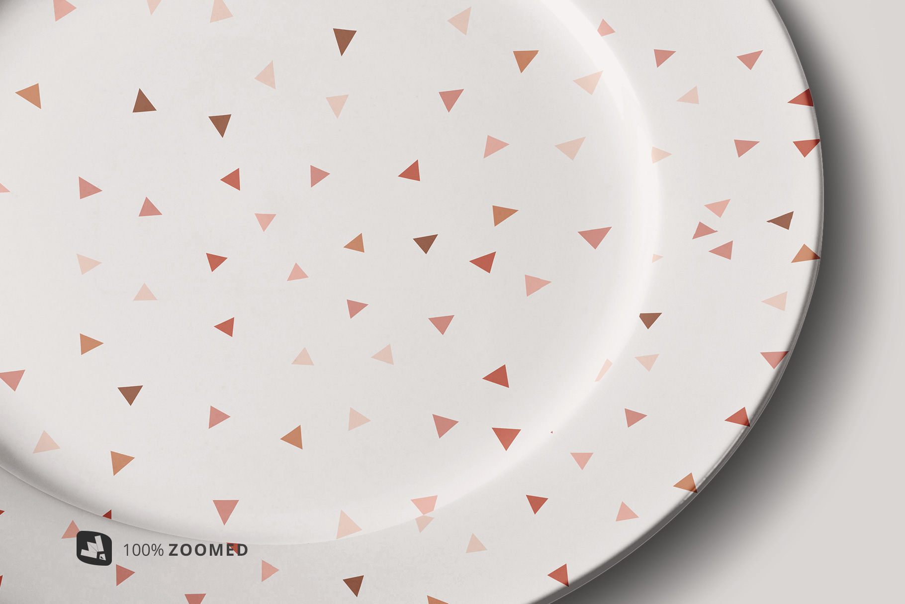 zoomed in image of the porcelain dinner plate mockup