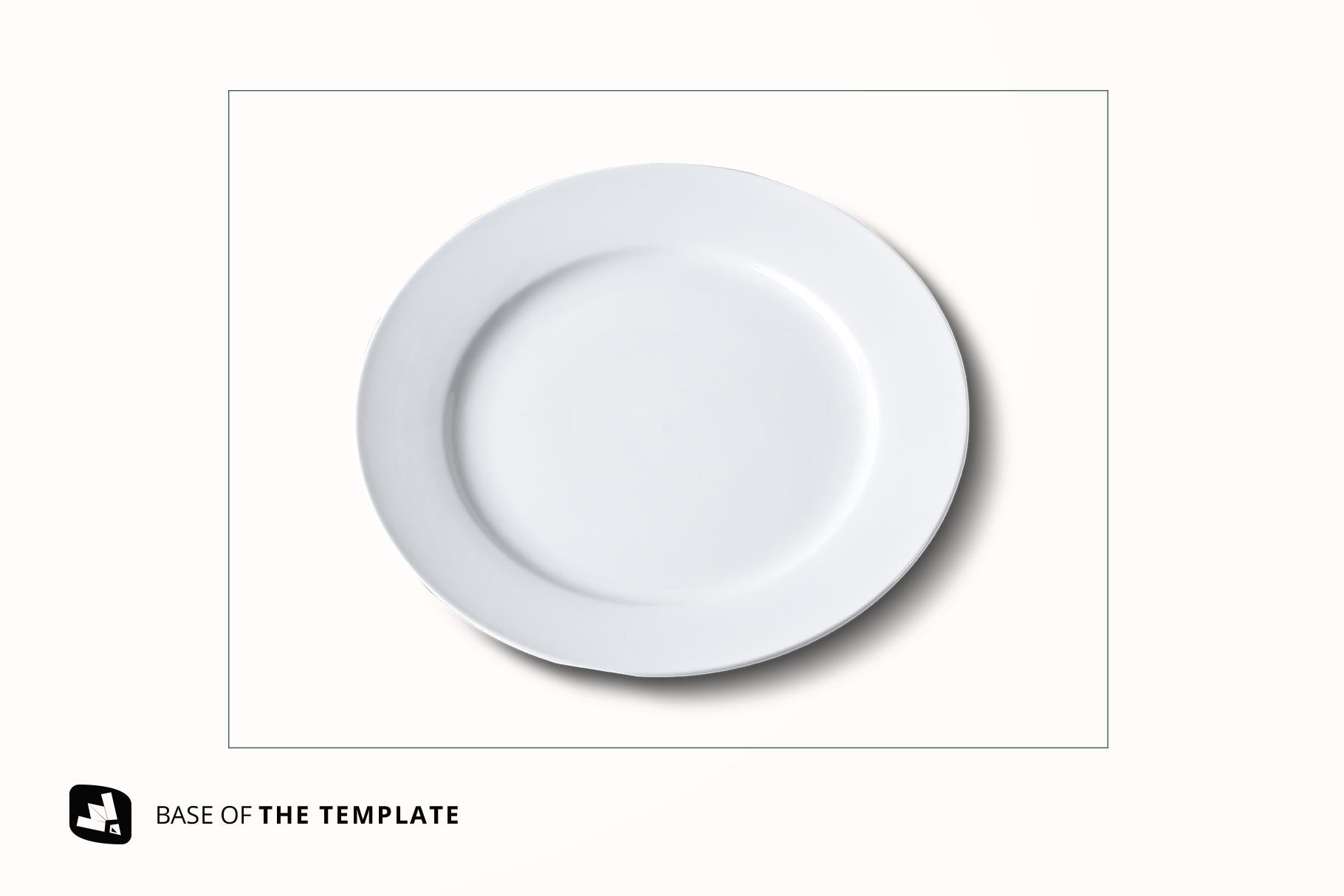 base image of the porcelain dinner plate mockup